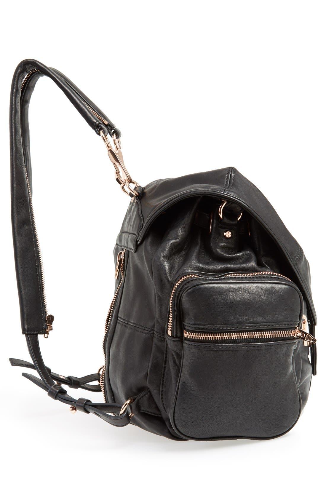 'Marti - Rose Gold' Leather Backpack,                             Alternate thumbnail 6, color,                             001