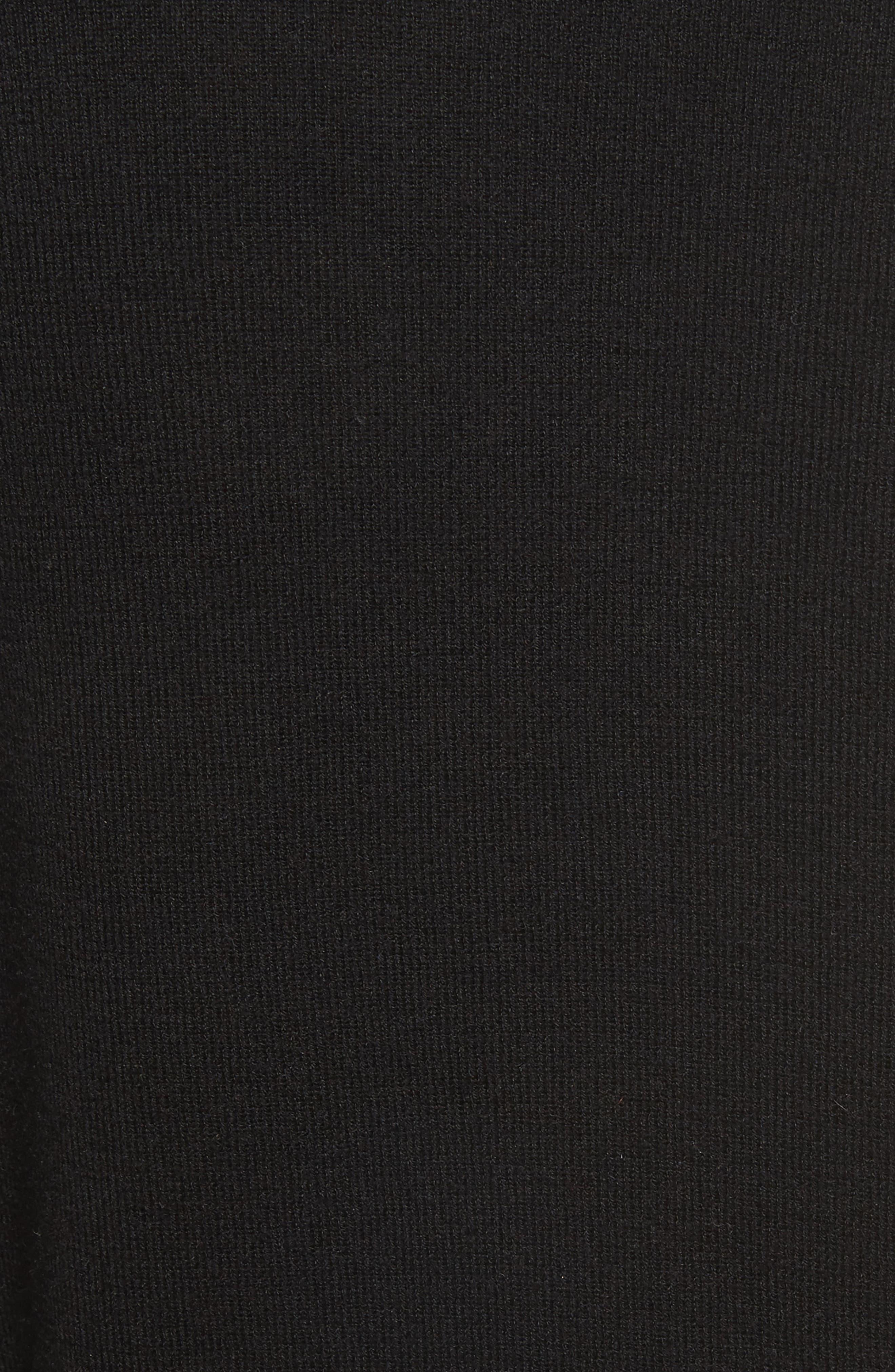 Choker Collar Silk Blend Sweater,                             Alternate thumbnail 5, color,                             001