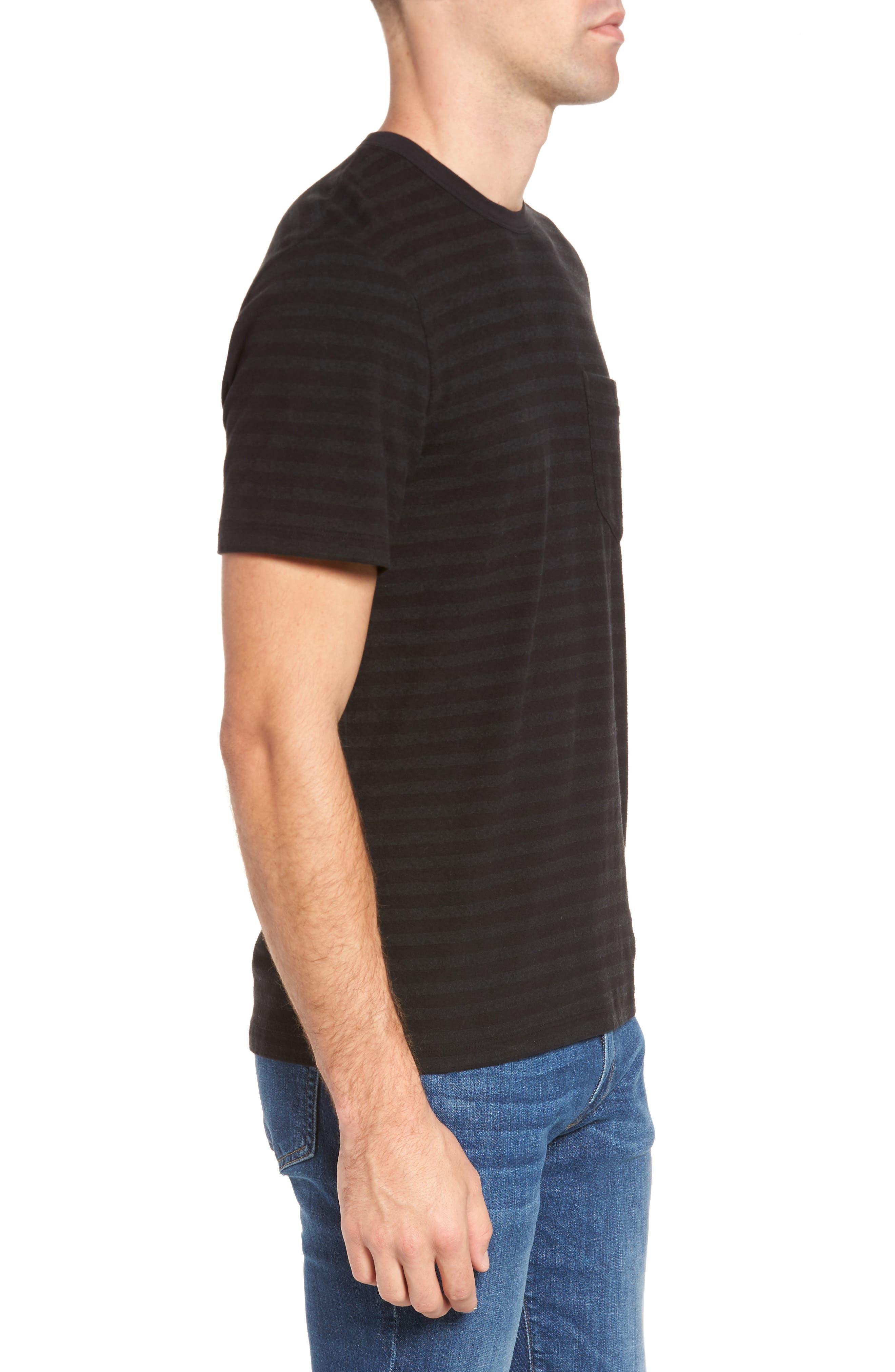 Shadow Stripe Pocket T-Shirt,                             Alternate thumbnail 3, color,                             020