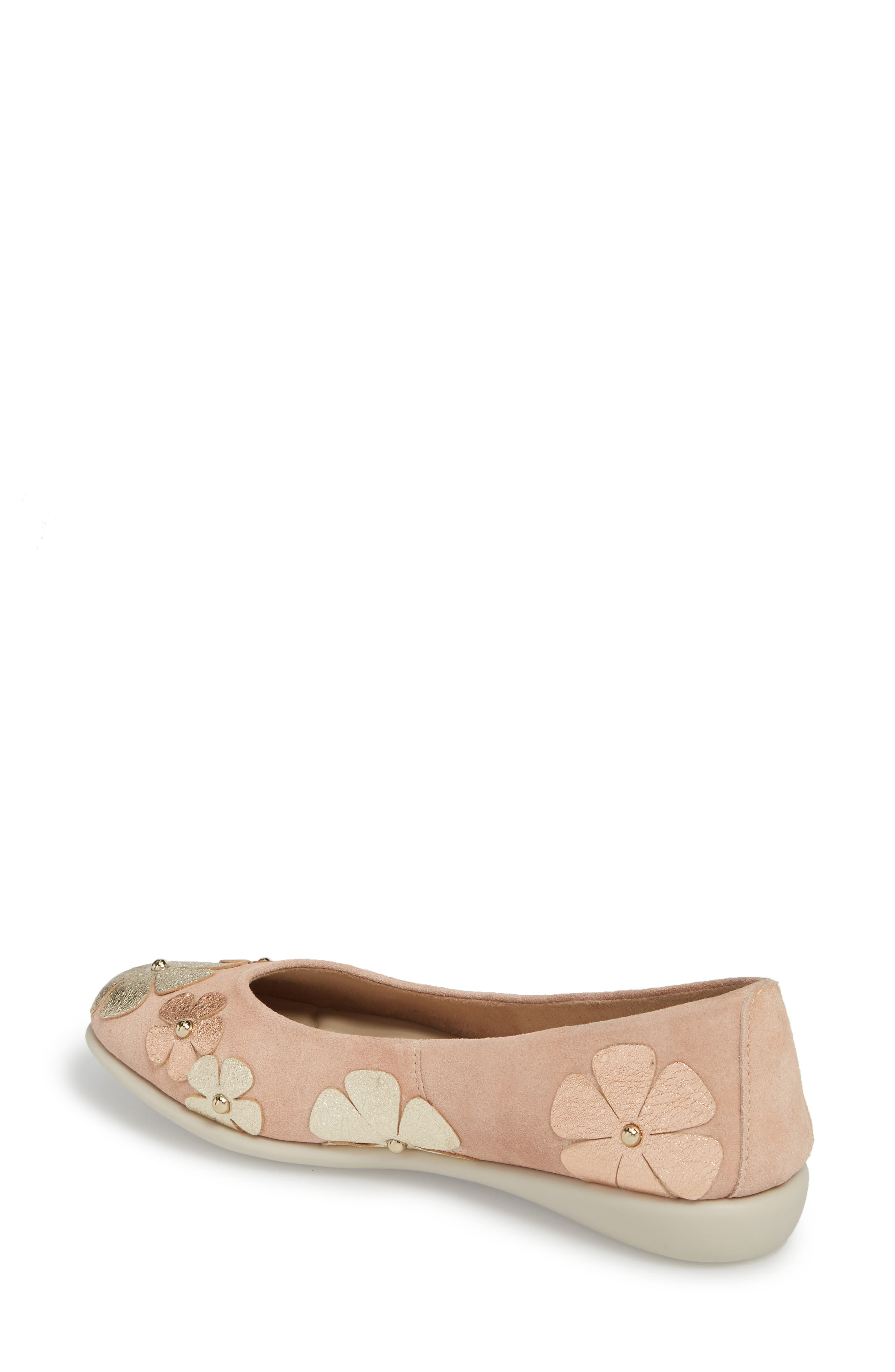 Miss Hippie Ballerina Flat,                             Alternate thumbnail 2, color,                             ROSE GOLD LEATHER