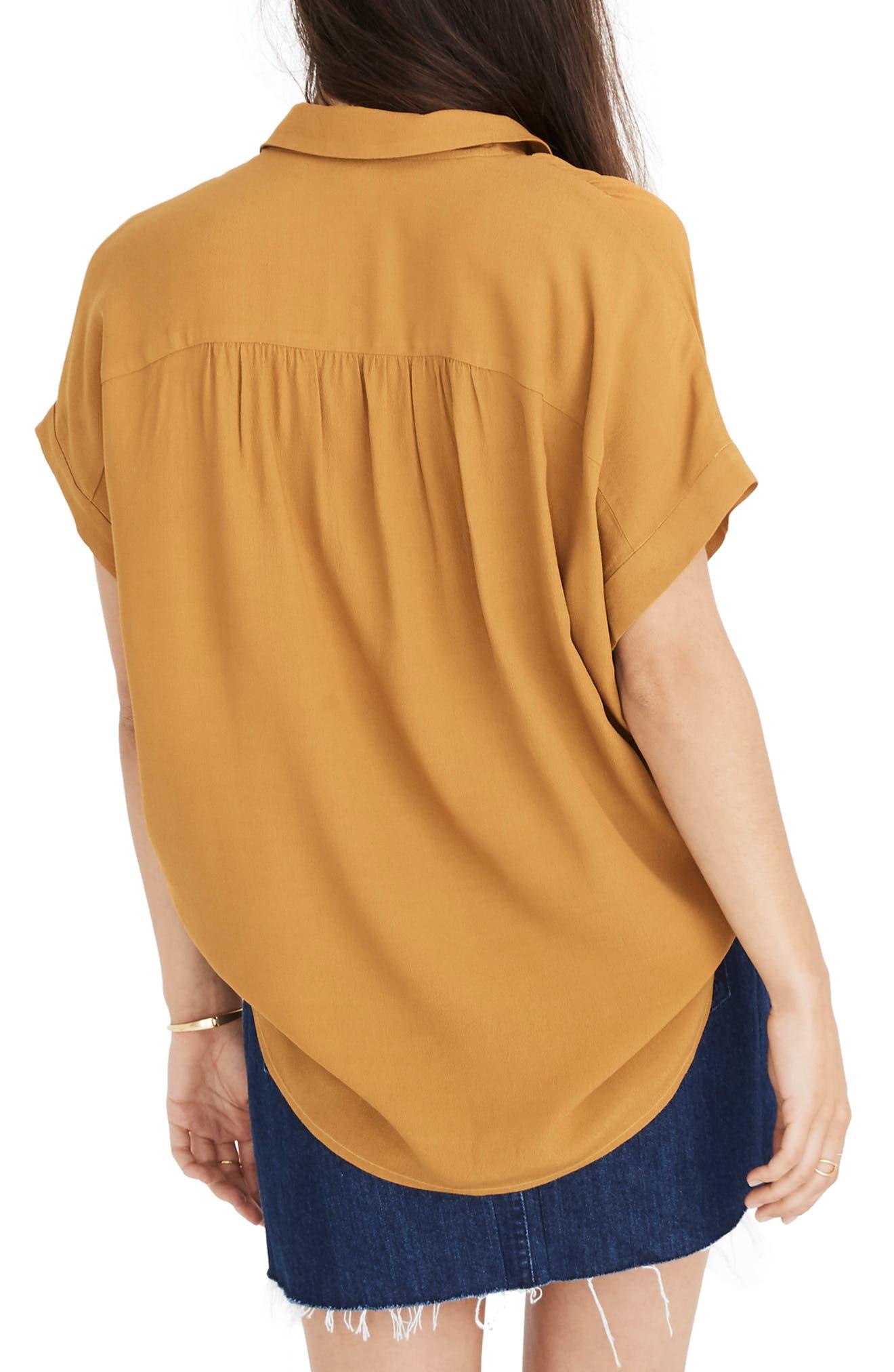 Central Drapey Shirt,                             Alternate thumbnail 2, color,                             EGYPTIAN GOLD