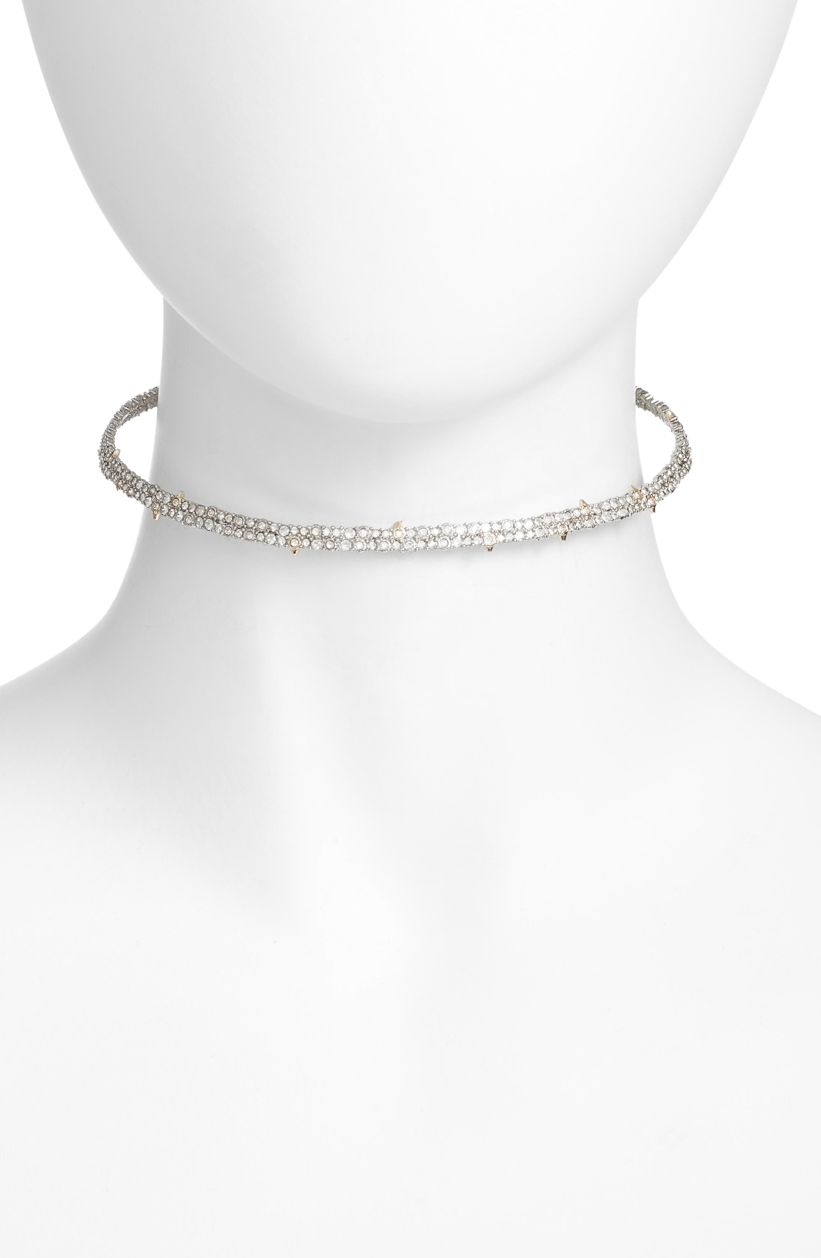 Elements Encrusted Spike Choker,                         Main,                         color, GOLD