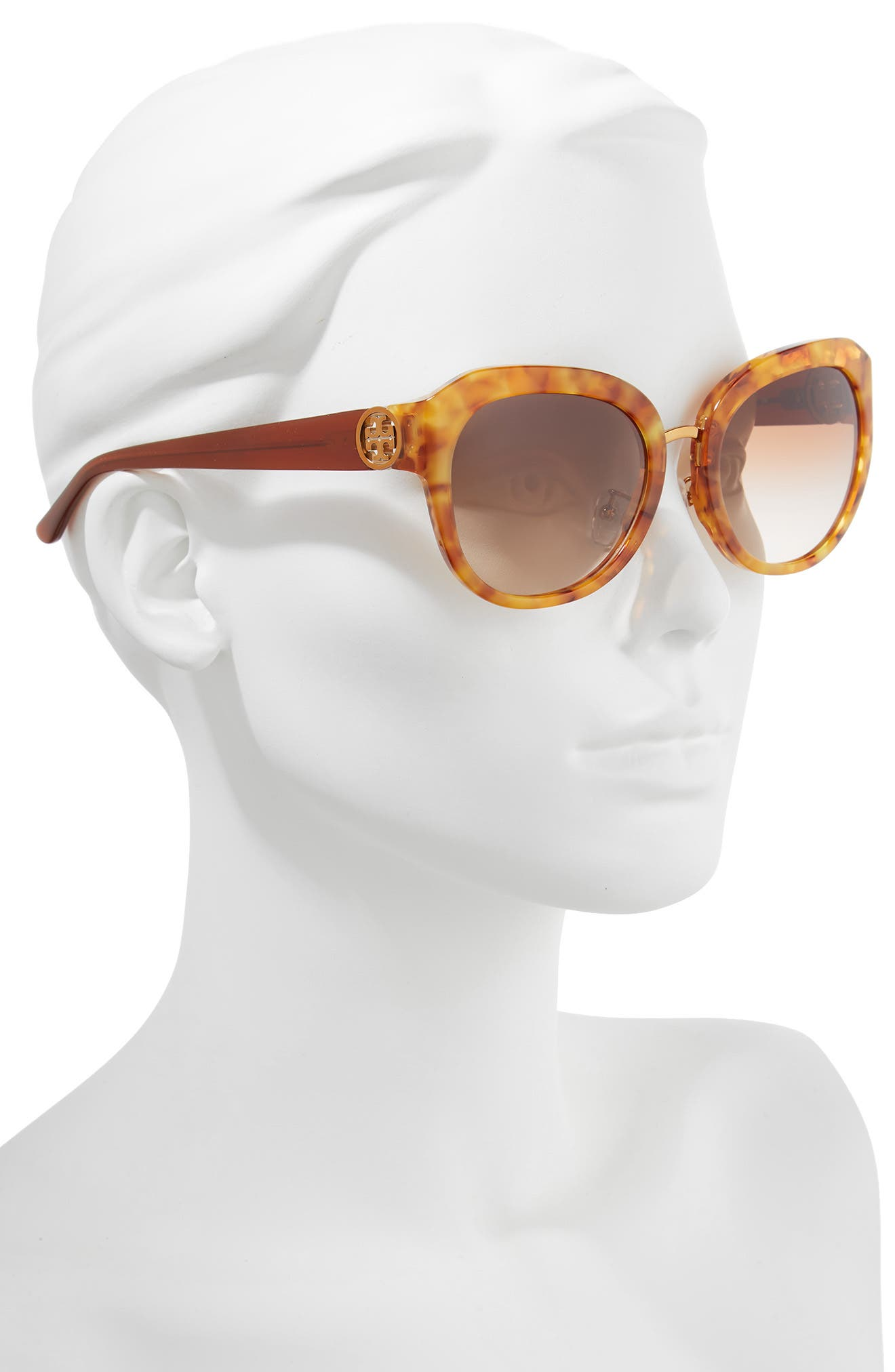 Irregular Reva 56mm Sunglasses,                             Alternate thumbnail 2, color,                             AMBER GRADIENT