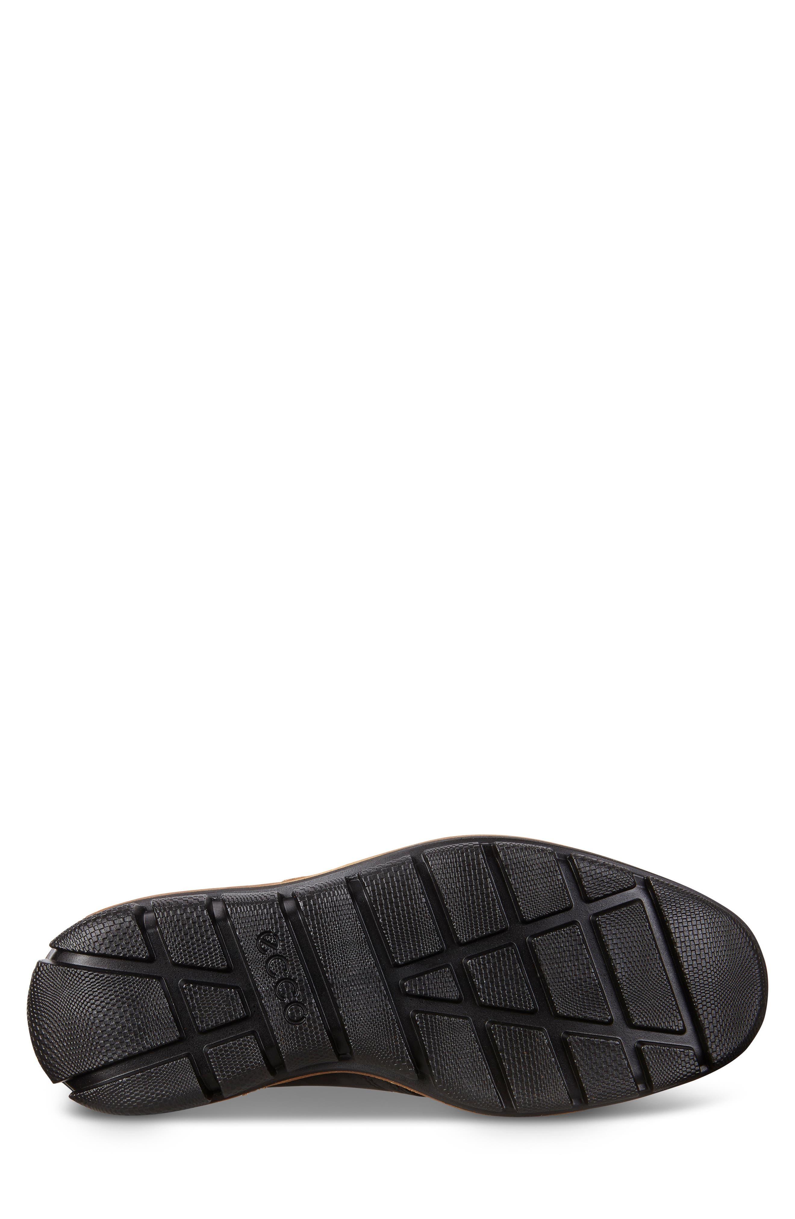 'Jeremy Hybrid' Plain Toe Boot,                             Alternate thumbnail 5, color,                             BLACK LEATHER