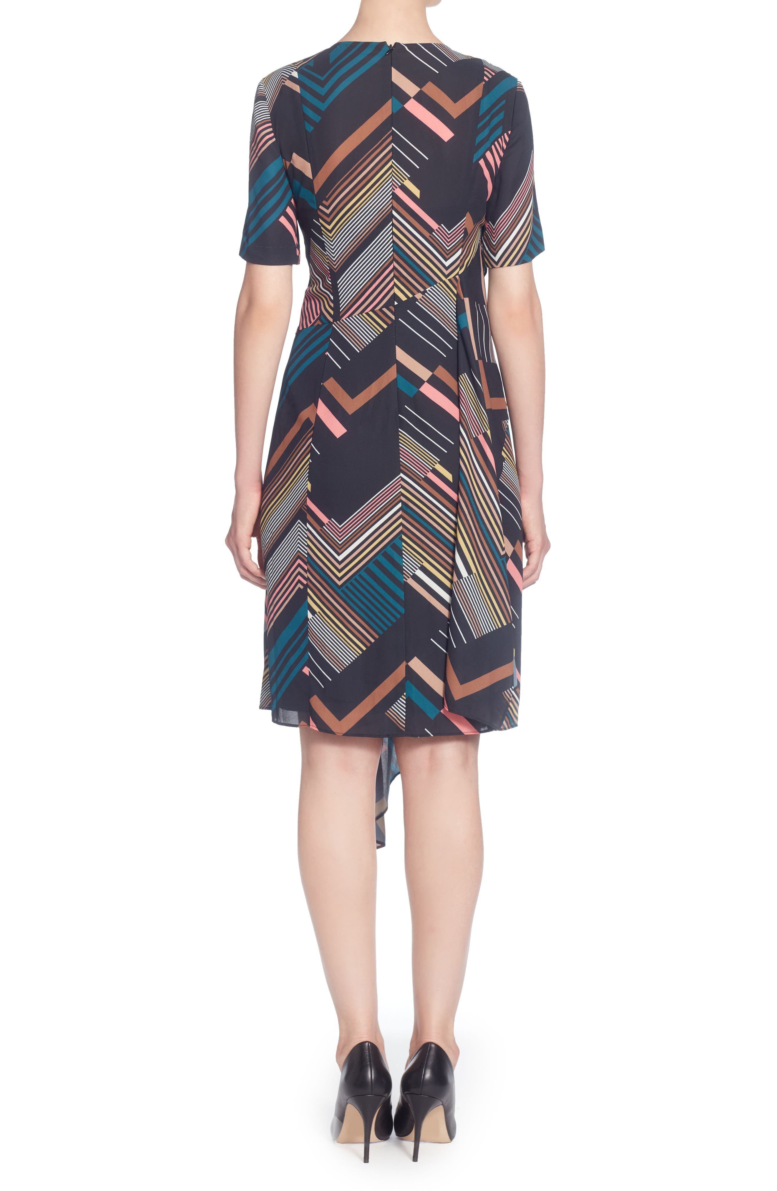 Lill Asymmetrical Hem Dress,                             Alternate thumbnail 2, color,                             001