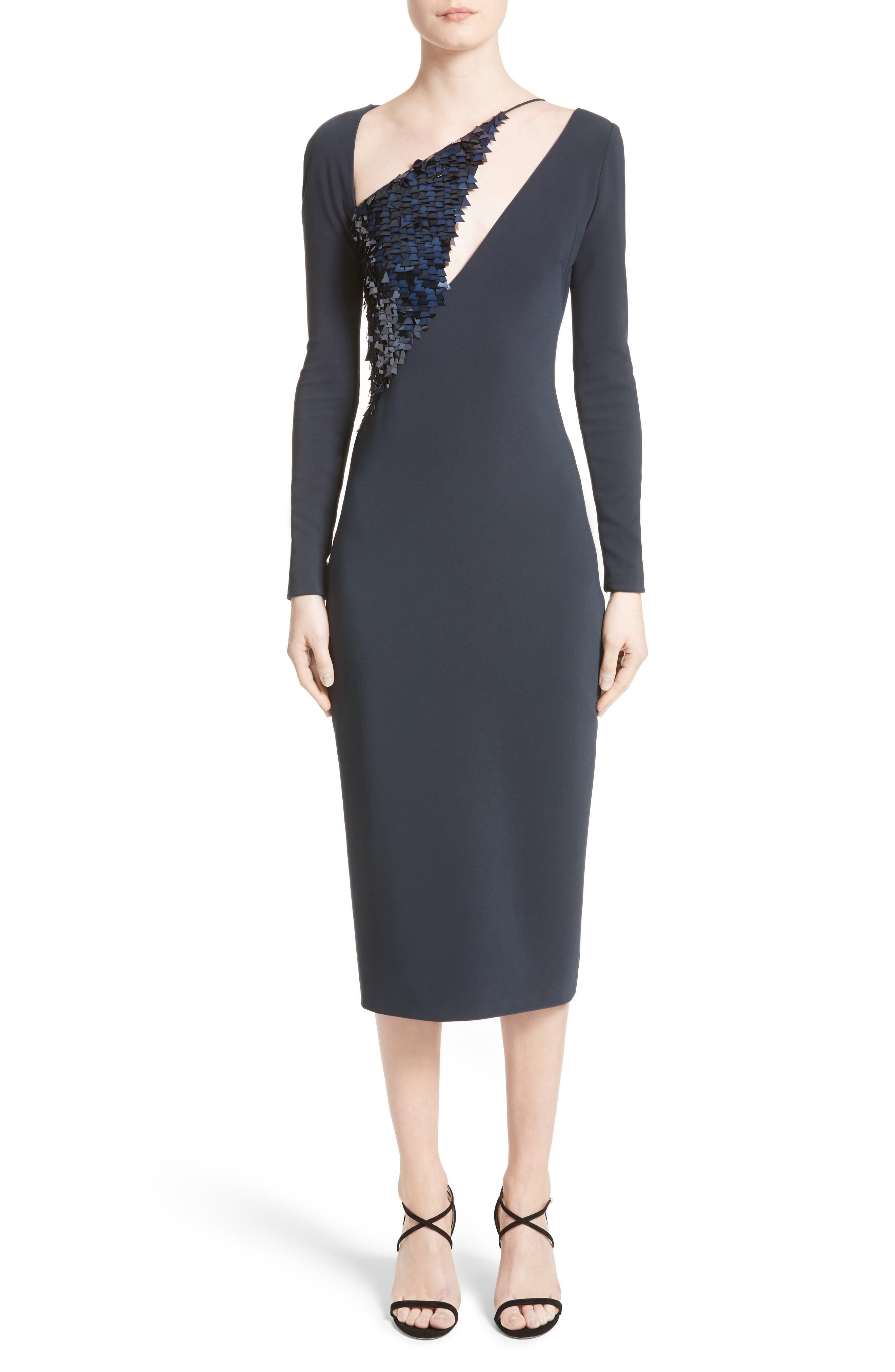 Larissa Sequin Pencil Dress,                         Main,                         color, 406