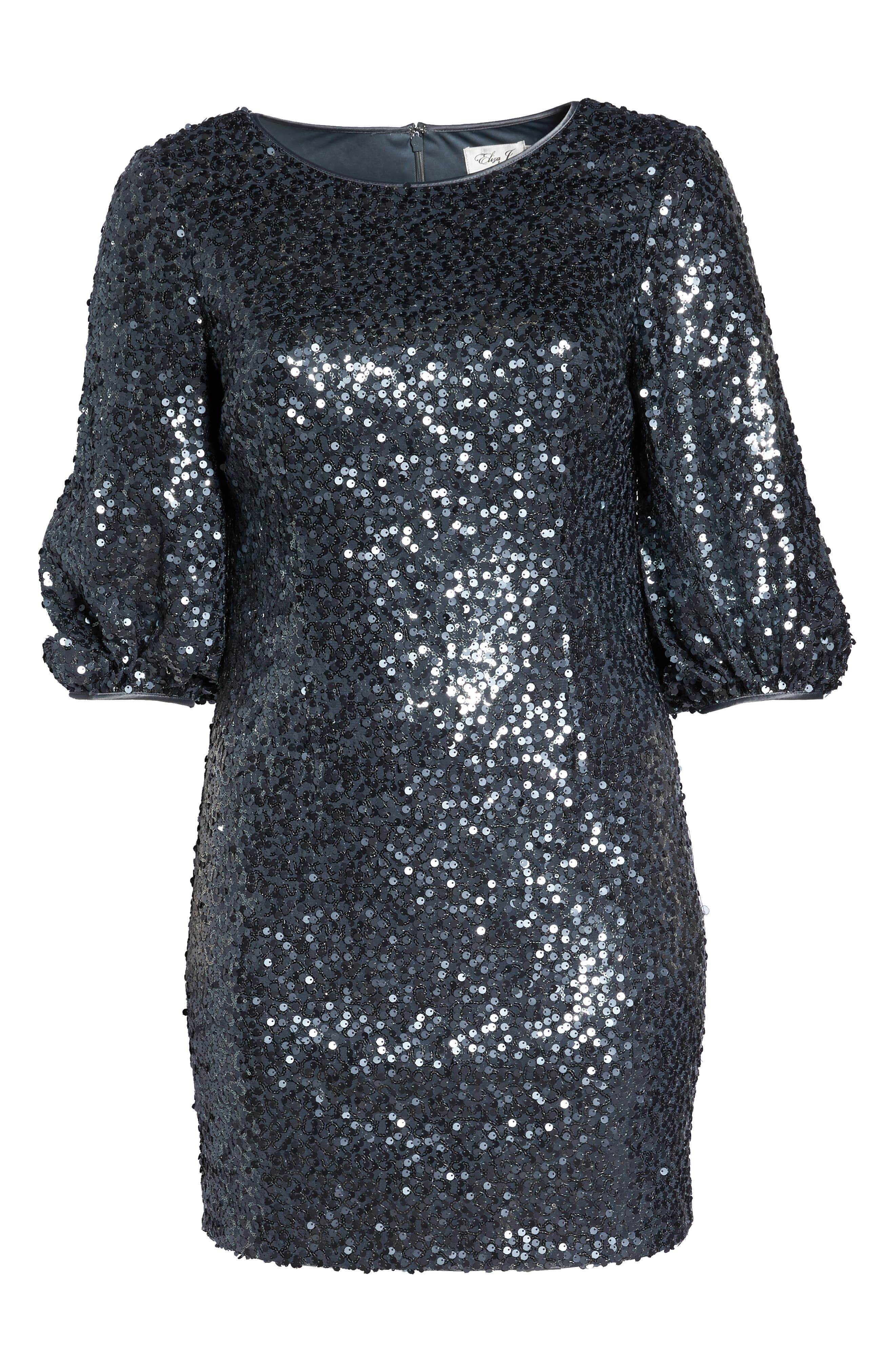 Sequin Sheath Dress,                             Alternate thumbnail 7, color,                             GREY
