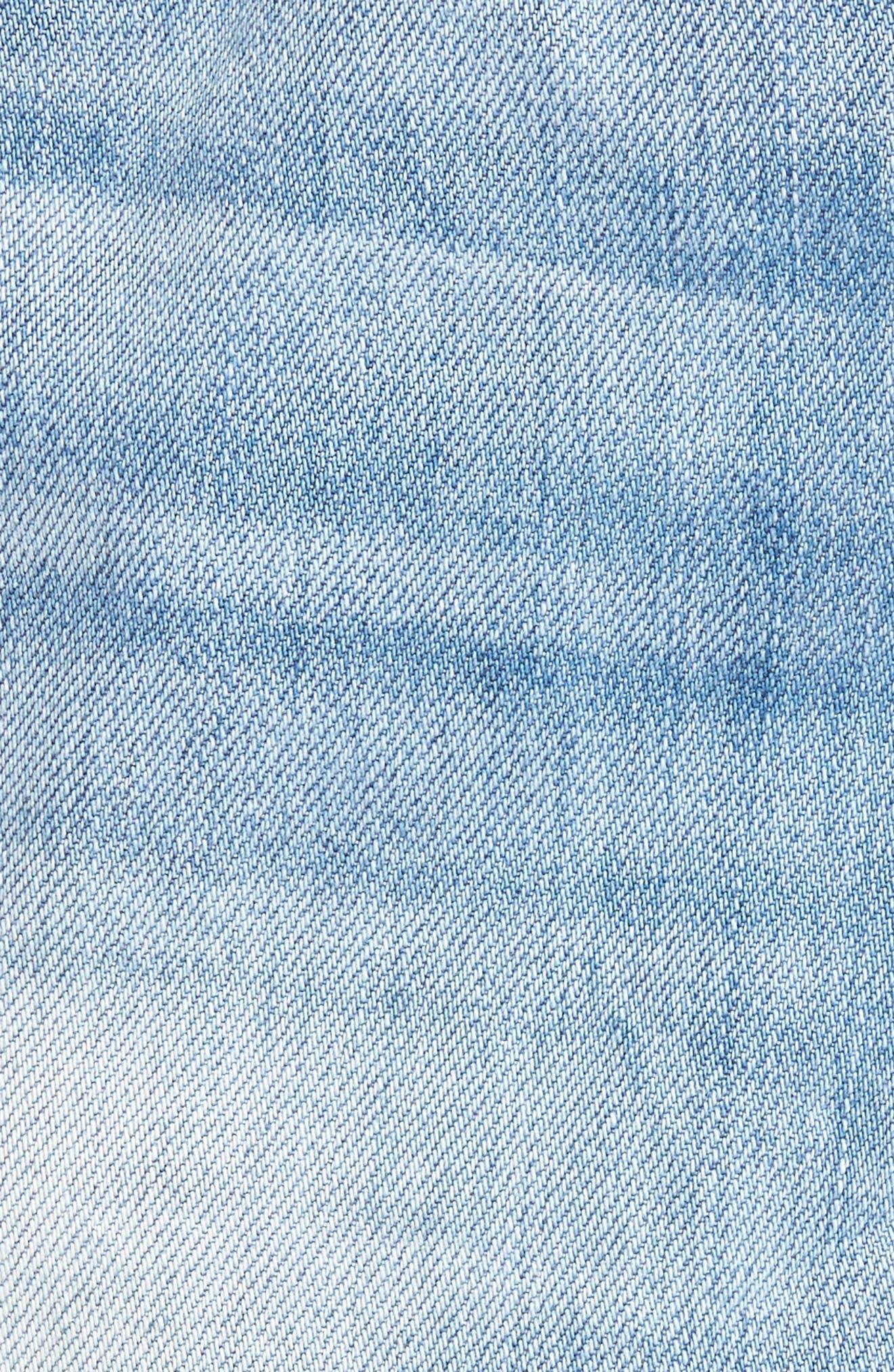 Riley Cheeky Denim Shorts,                             Alternate thumbnail 5, color,                             400