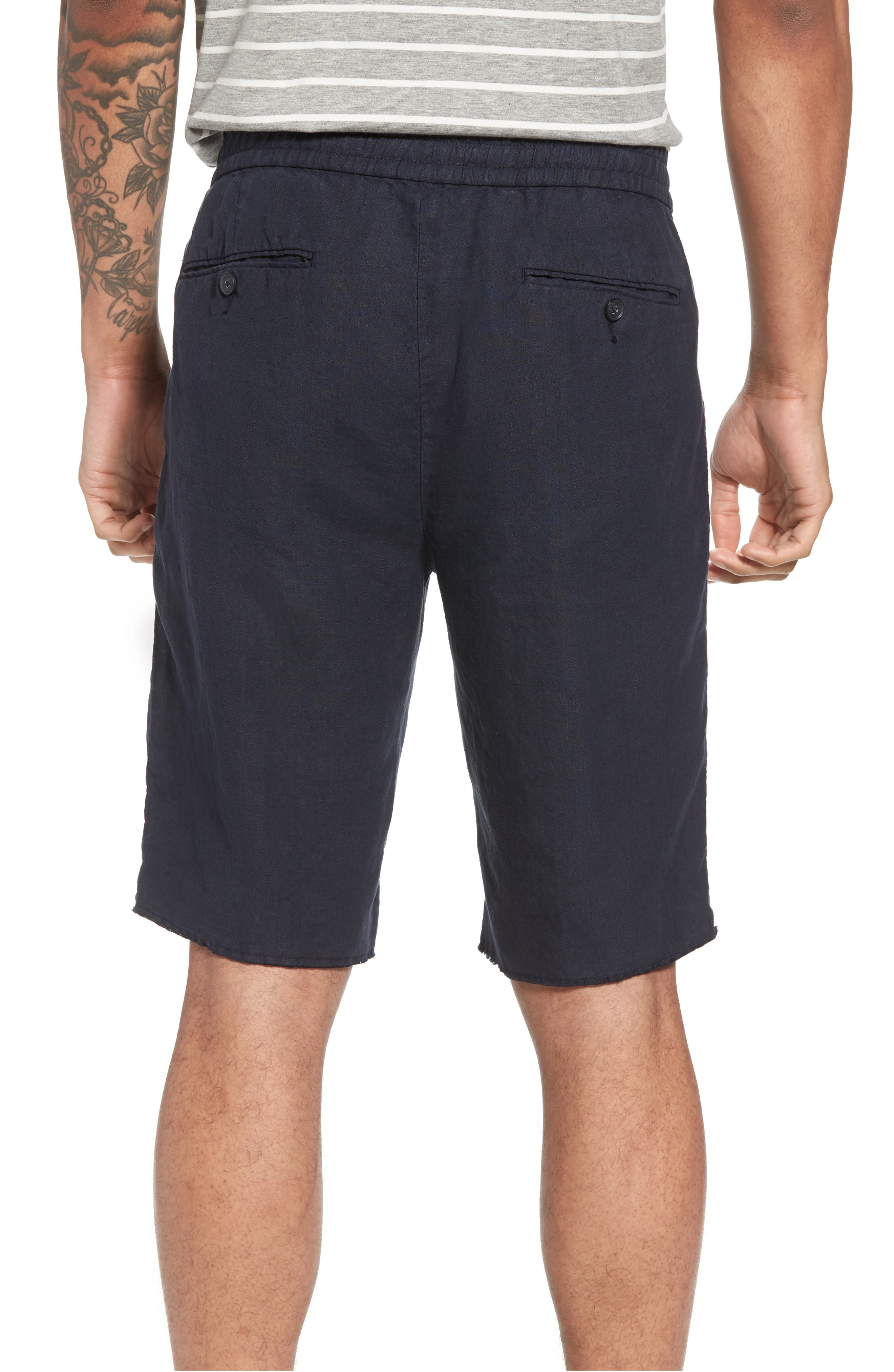 Raw Hem Slim Fit Track Shorts,                             Alternate thumbnail 2, color,                             NEW COASTAL