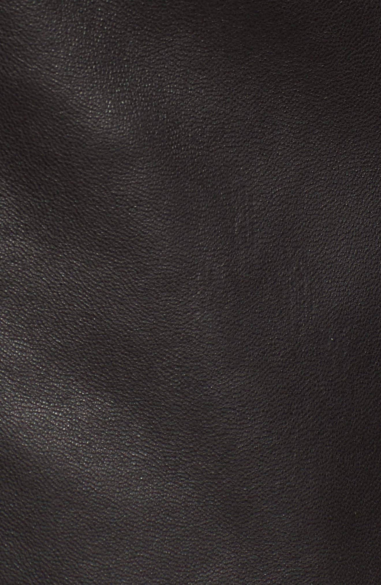 Classic Leather Moto Jacket,                             Alternate thumbnail 12, color,