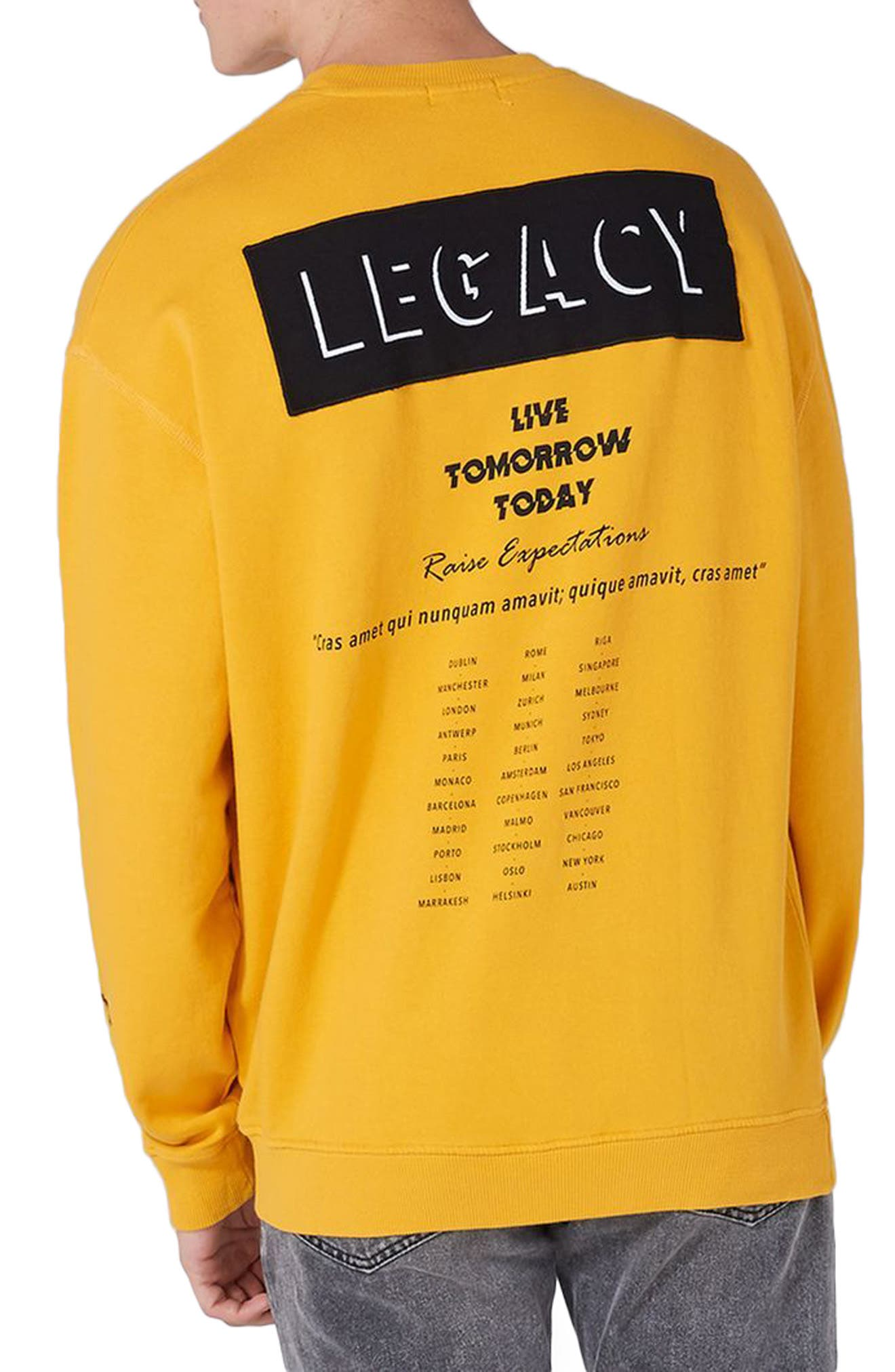 Legacy Graphic Crewneck Sweatshirt,                             Alternate thumbnail 2, color,                             700