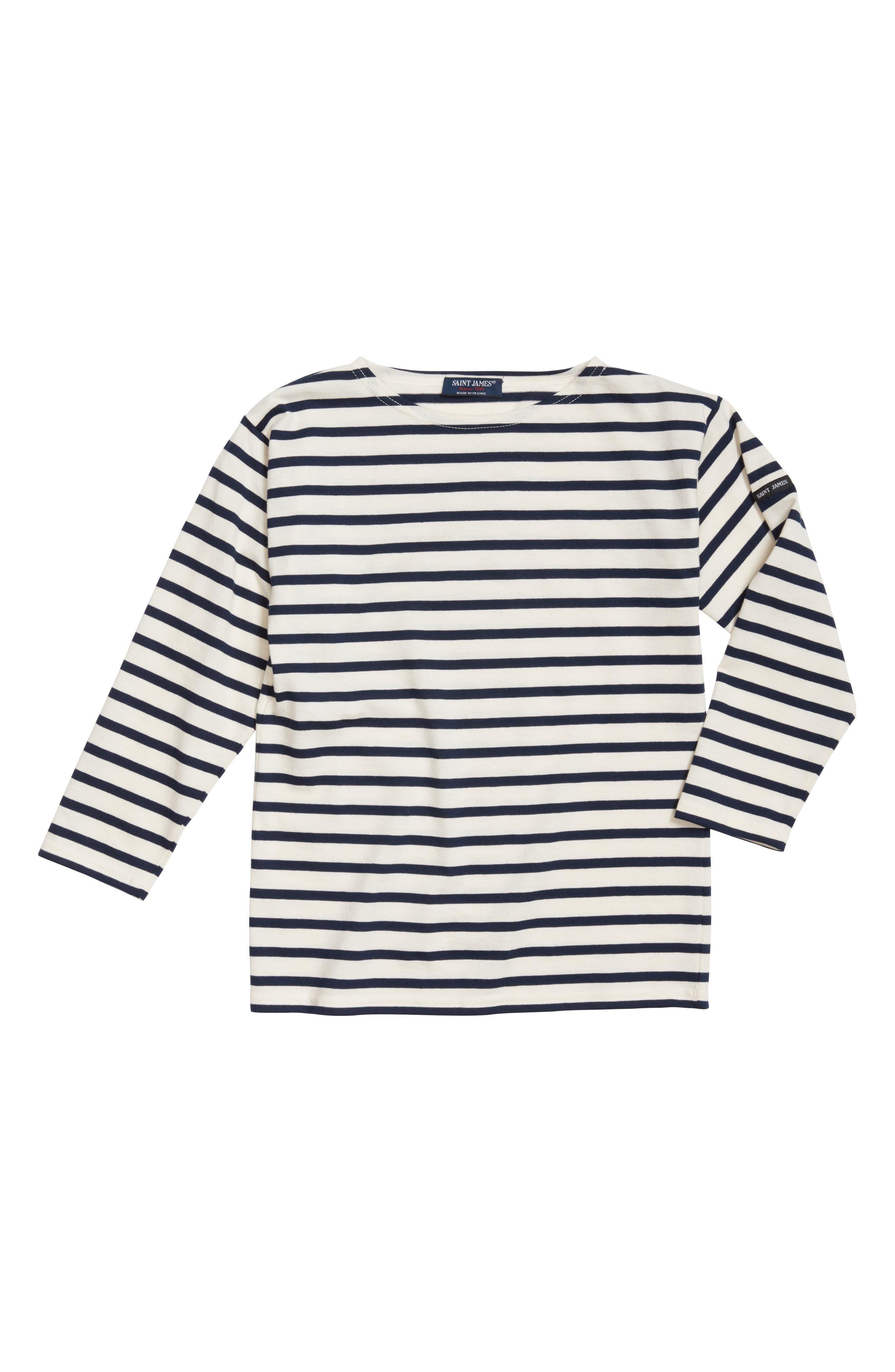 Minquiers Kids Striped Sailor Shirt,                             Main thumbnail 1, color,                             400