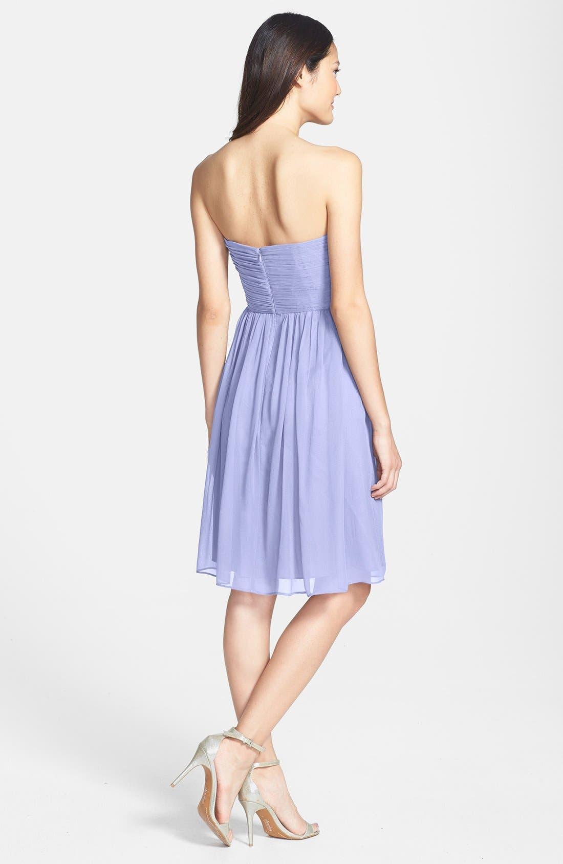 'Morgan' Strapless Silk Chiffon Dress,                             Alternate thumbnail 58, color,