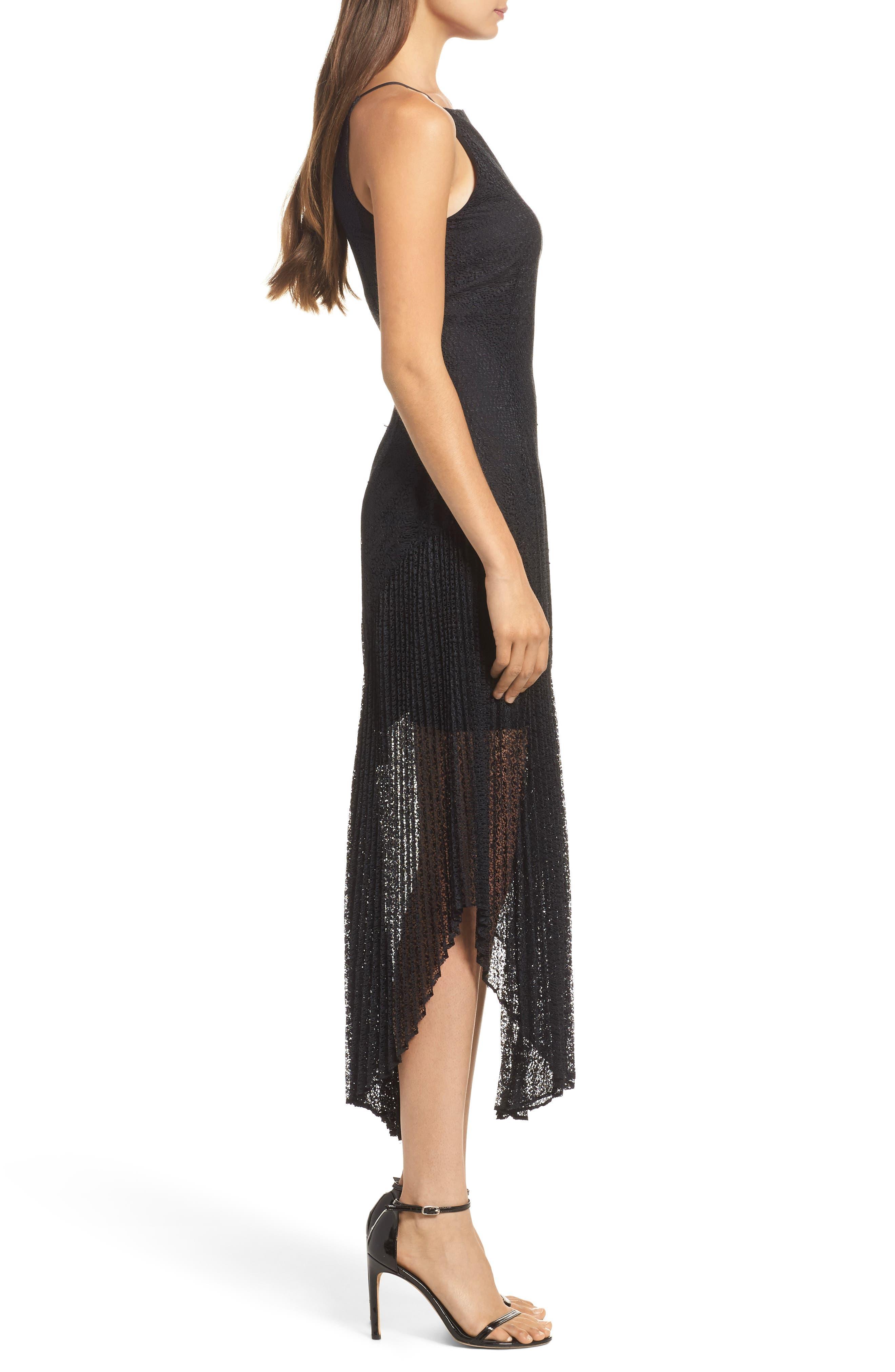 Ignite Lace Midi Dress,                             Alternate thumbnail 3, color,                             001