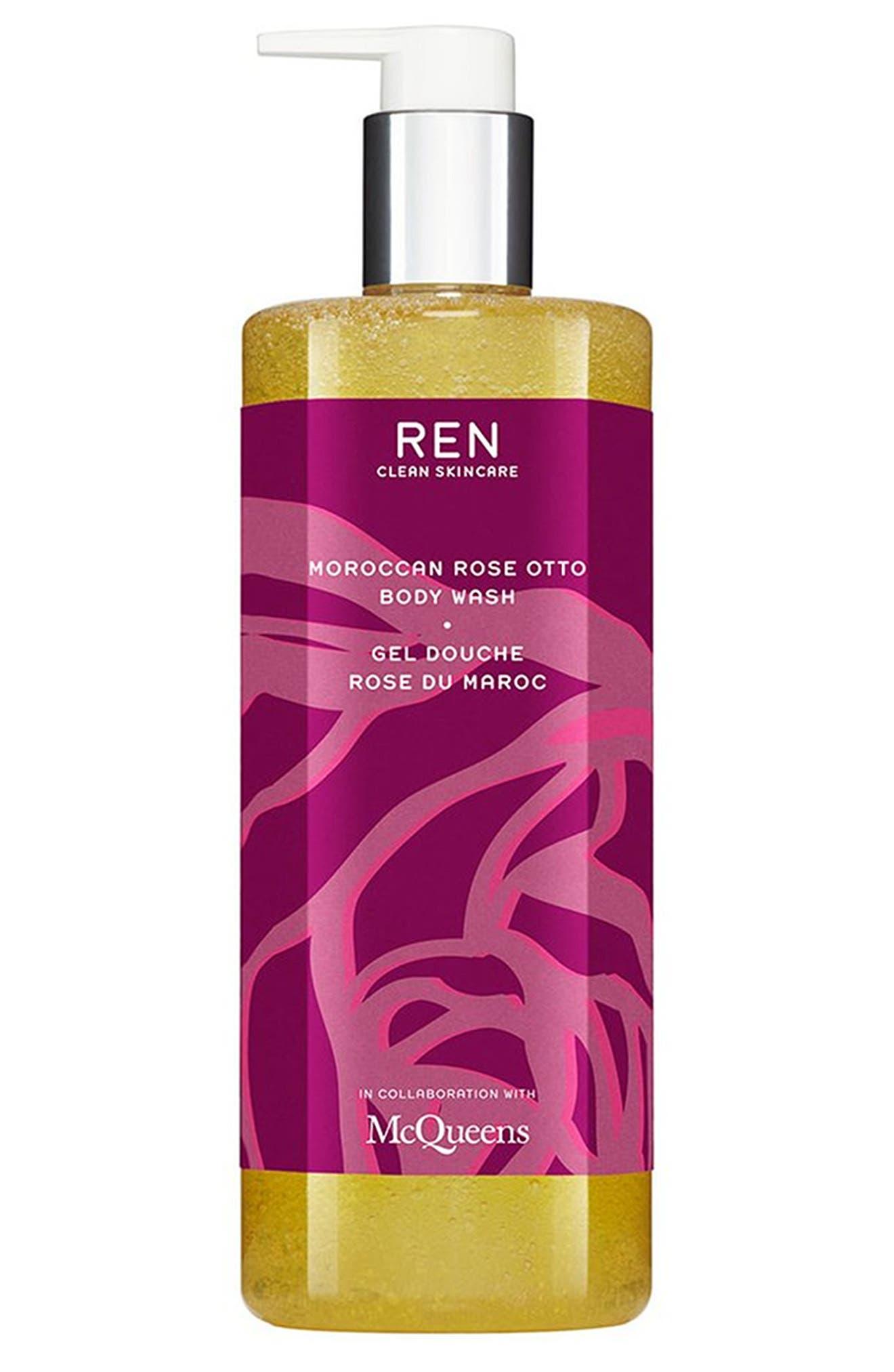 SPACE.NK.apothecary REN McQueens Moroccan Rose Otto Body Wash,                         Main,                         color,