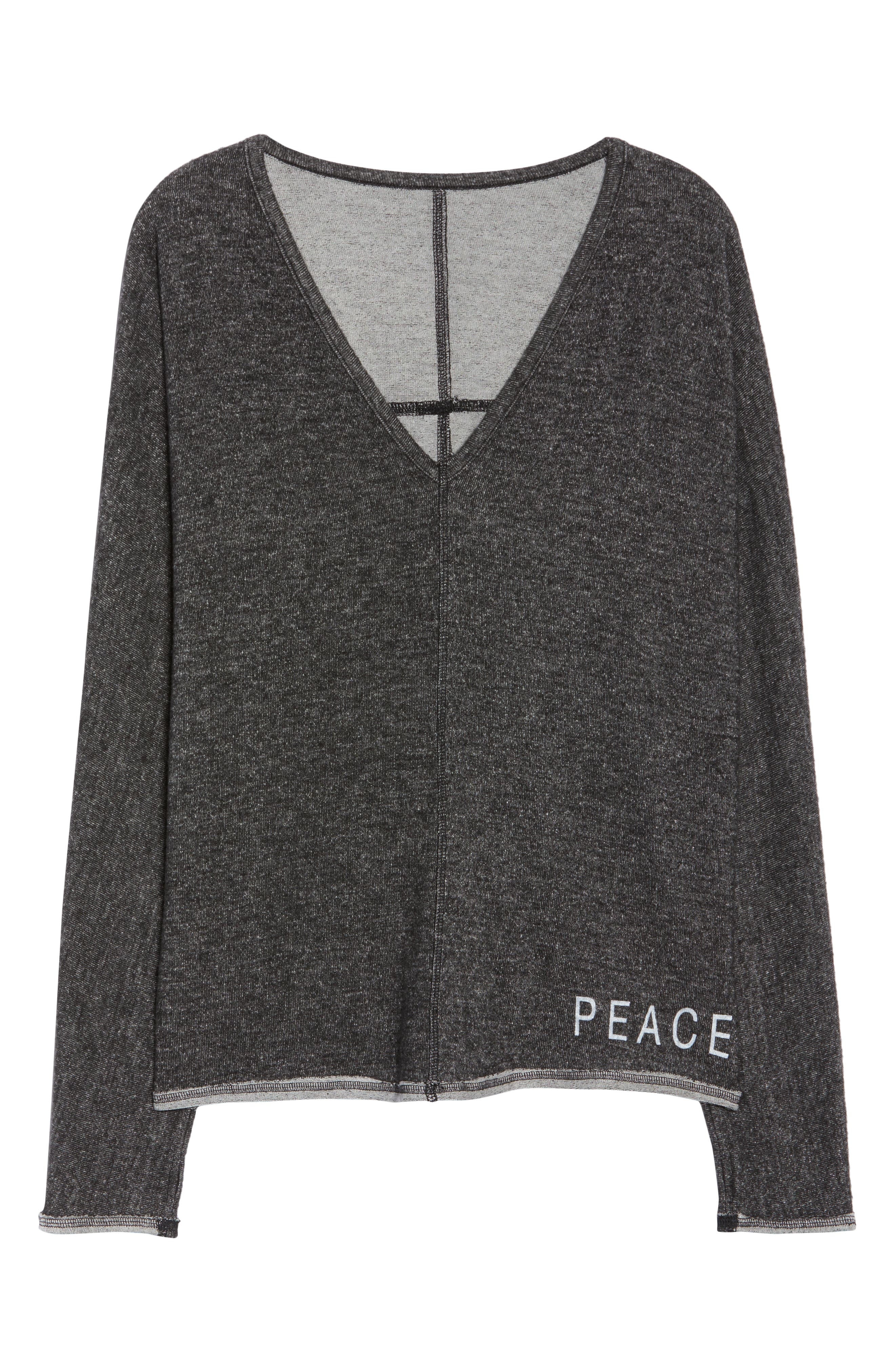 Peace & Love Pullover Sweater,                             Alternate thumbnail 7, color,                             HEATHER