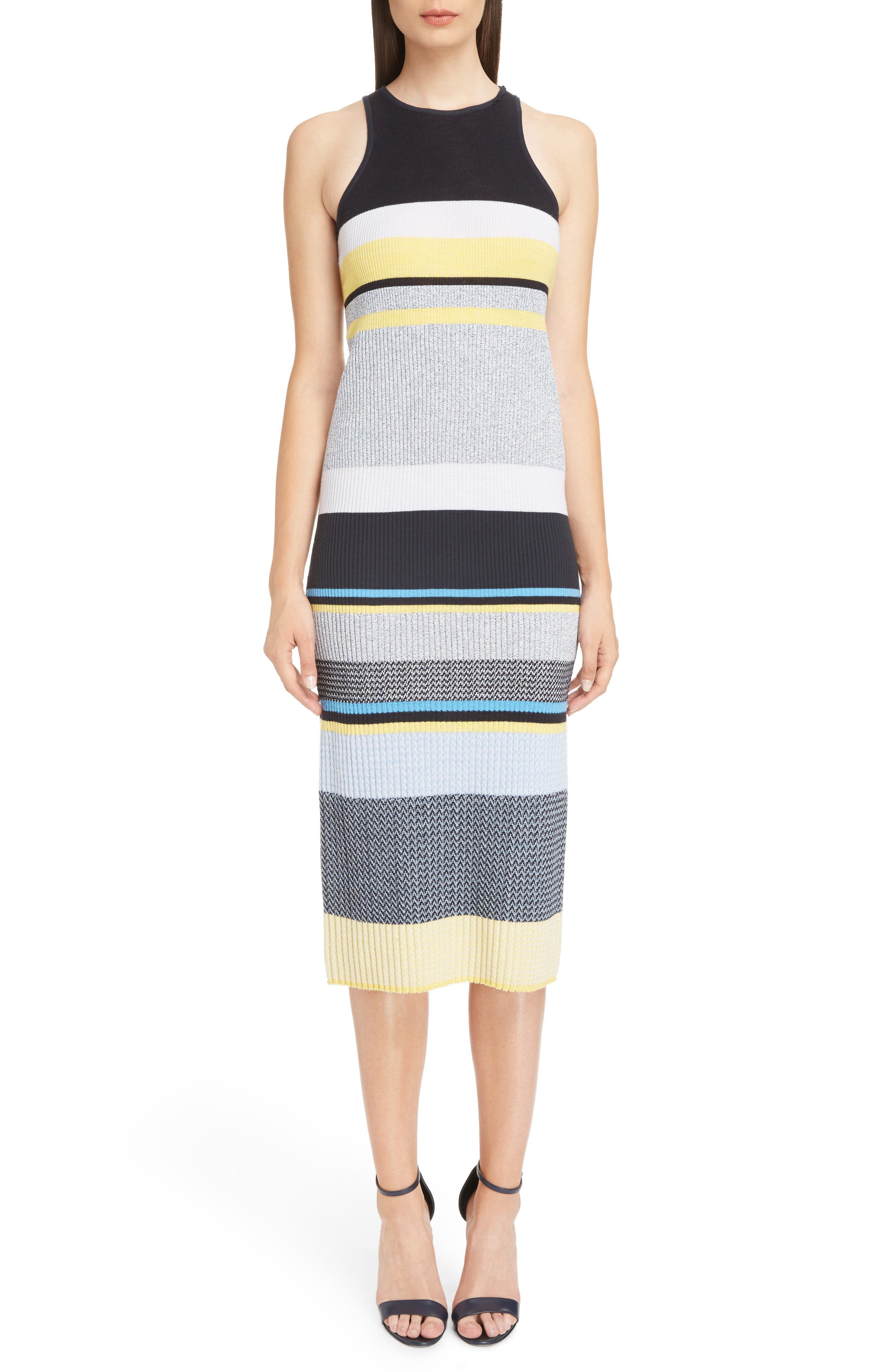 Stripe Knit Dress,                             Alternate thumbnail 5, color,