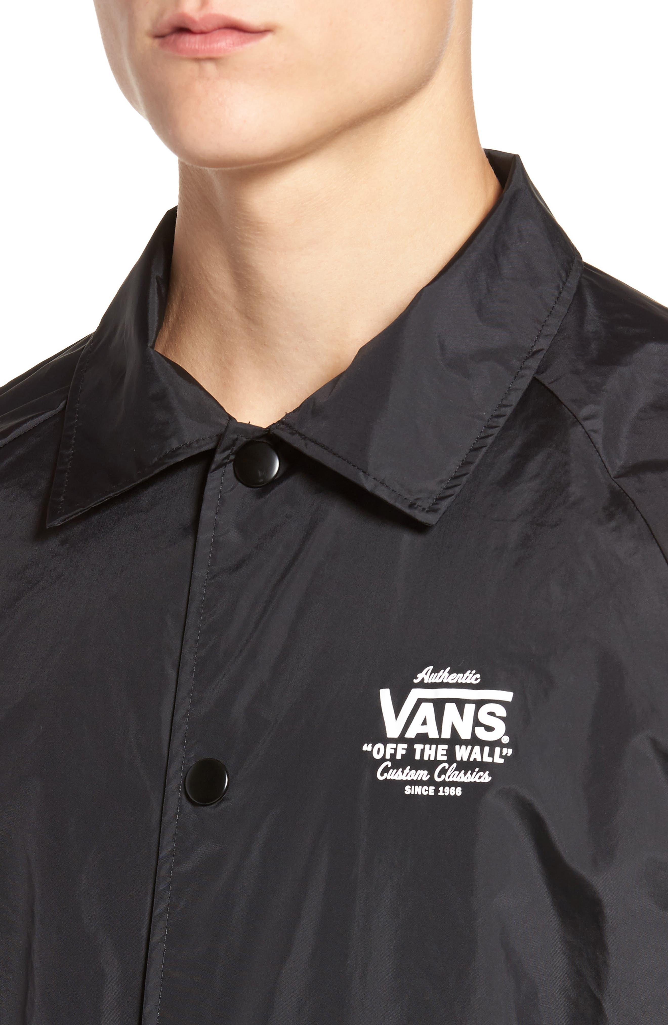 Torrey Water Resistant Jacket,                             Alternate thumbnail 4, color,                             BLACK/ WHITE
