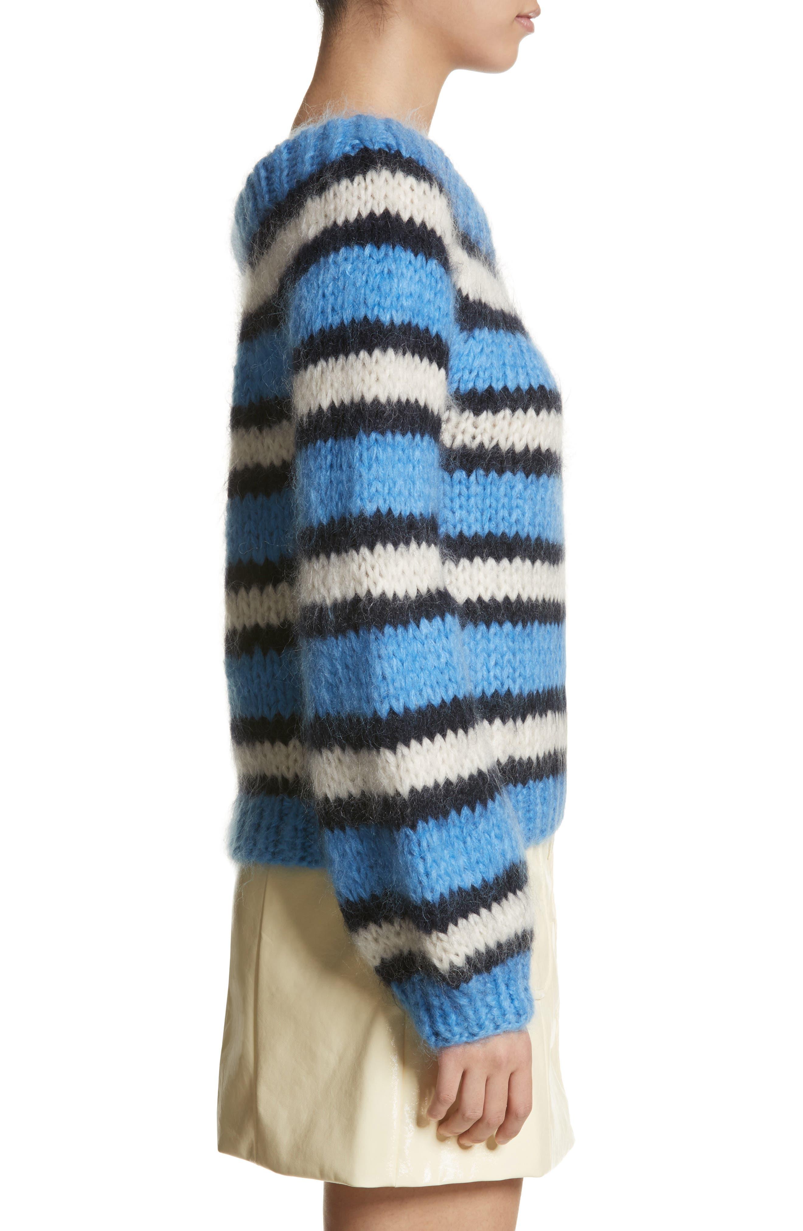 Juilliard Stripe Mohair & Wool Sweater,                             Alternate thumbnail 3, color,                             400