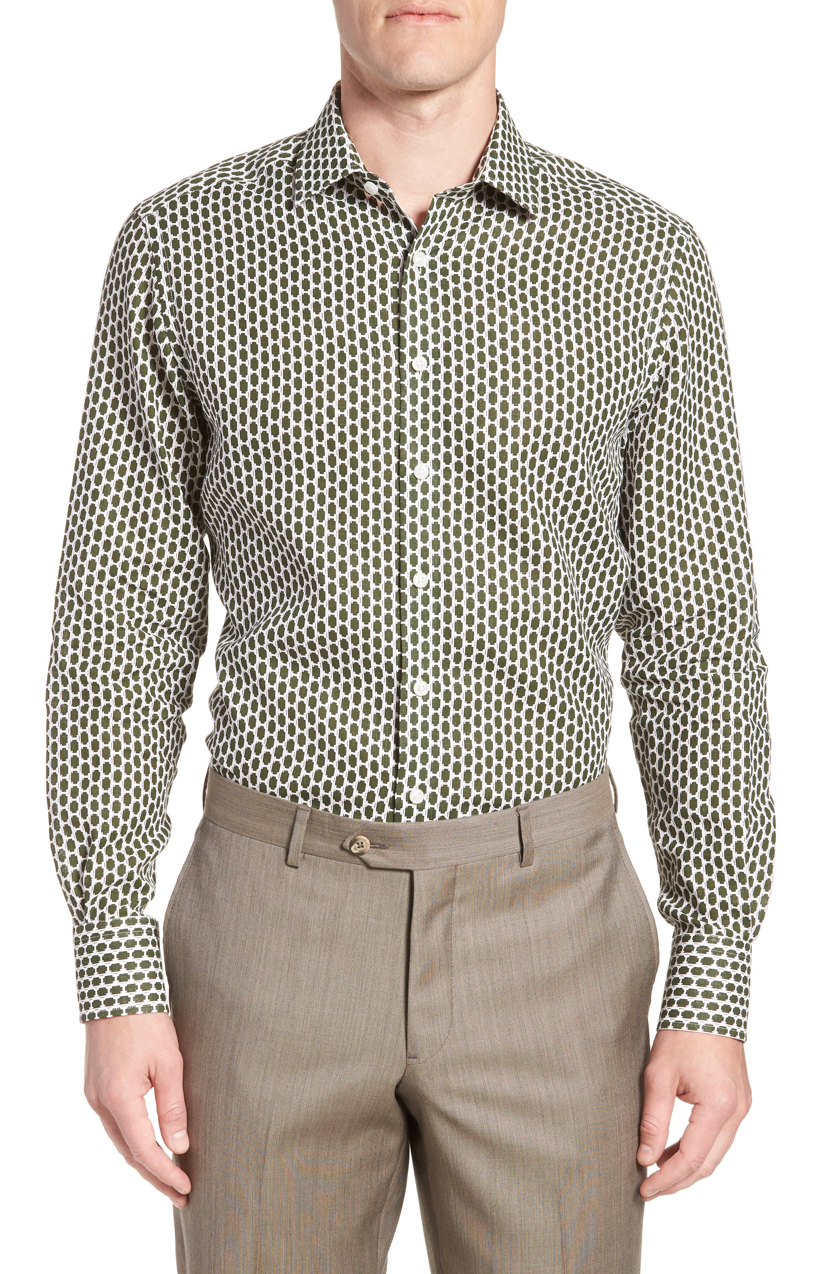 by Ilaria Urbinati Edmond Slim Fit Print Dress Shirt,                         Main,                         color,