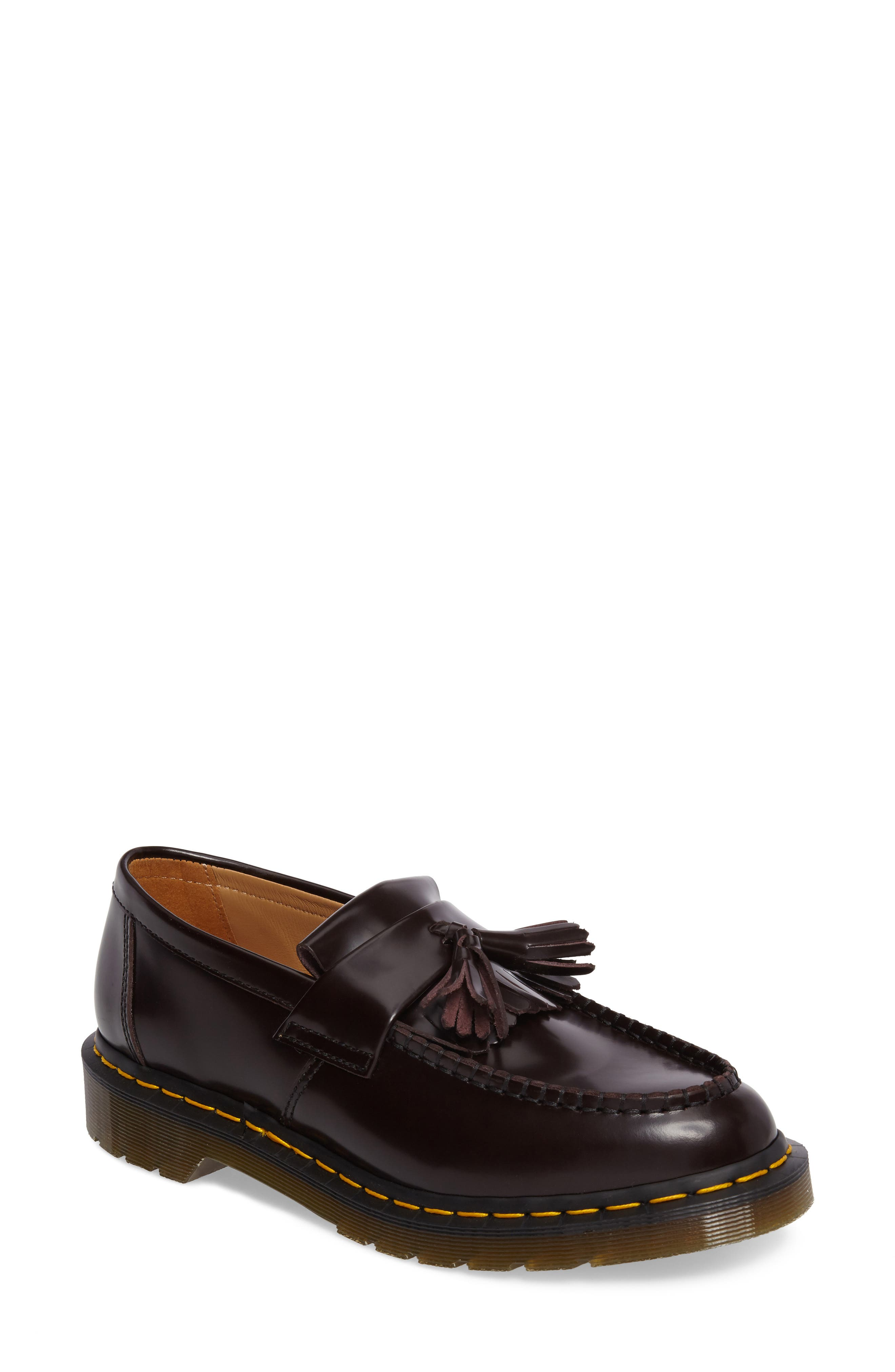 x Dr. Martens Tassel Loafer,                             Main thumbnail 1, color,                             RED