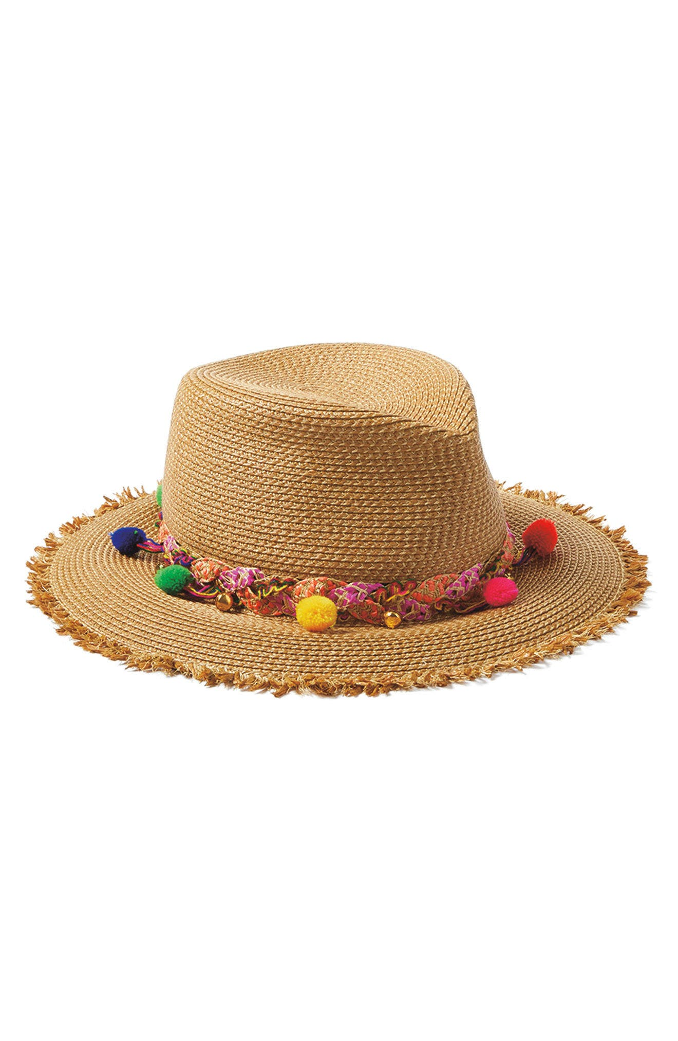 Corfu Packable Squishee<sup>®</sup> Straw Hat,                             Alternate thumbnail 2, color,                             NATURAL MIX