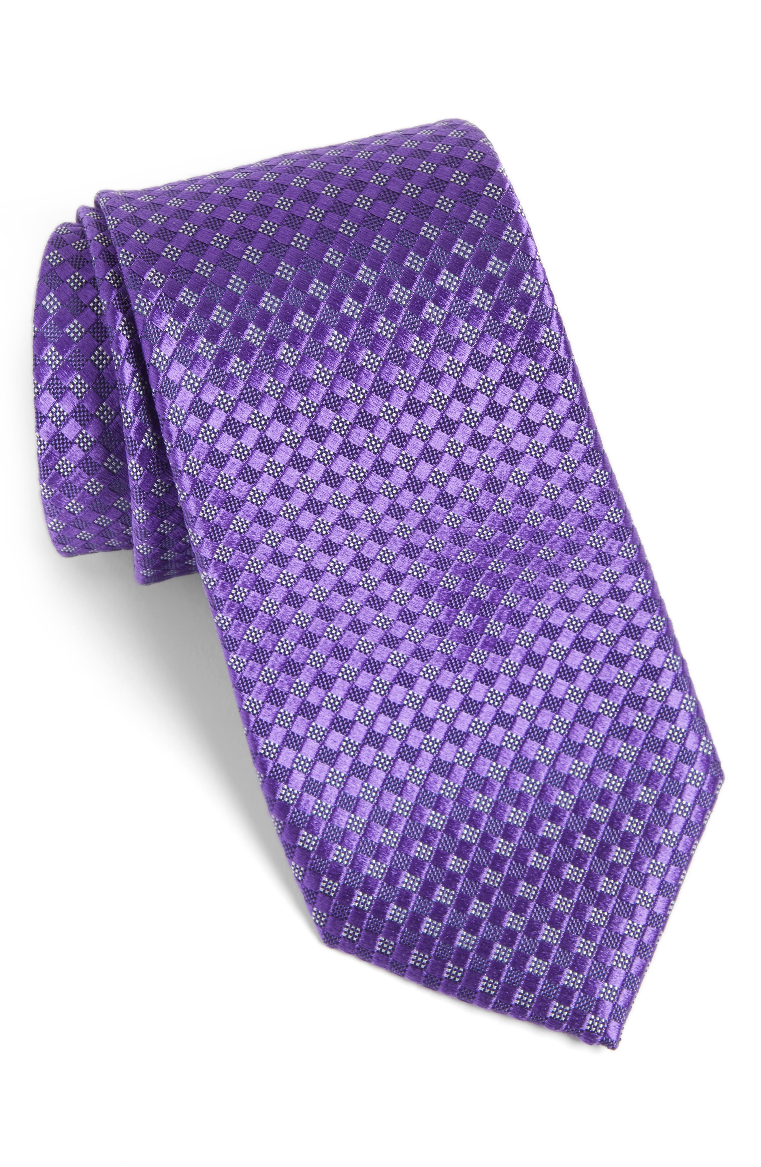 Artesia Check Silk Tie,                             Main thumbnail 7, color,