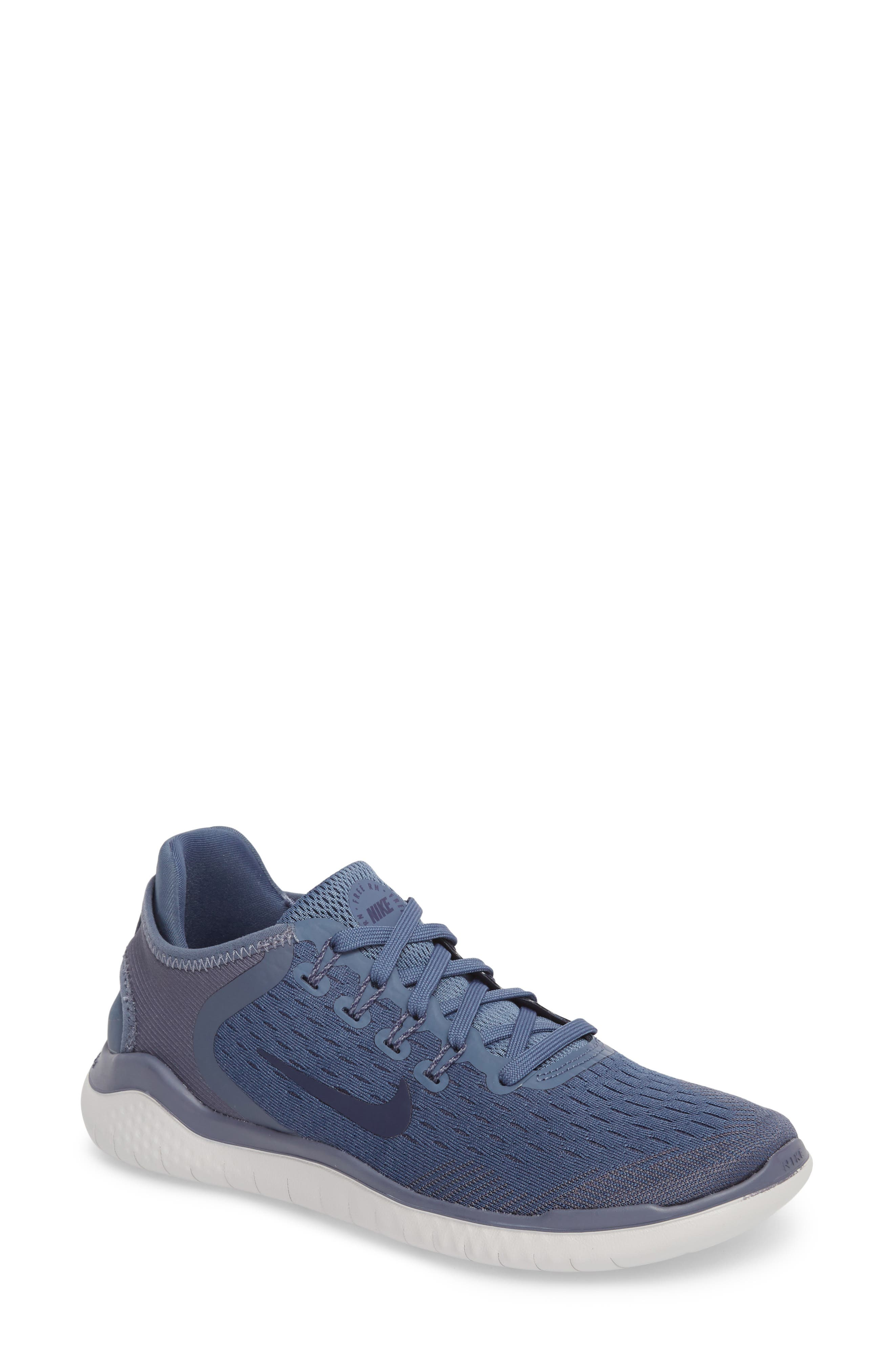 Free RN 2018 Running Shoe,                         Main,                         color, DIFFUSED BLUE/ NEUTRAL INDIGO