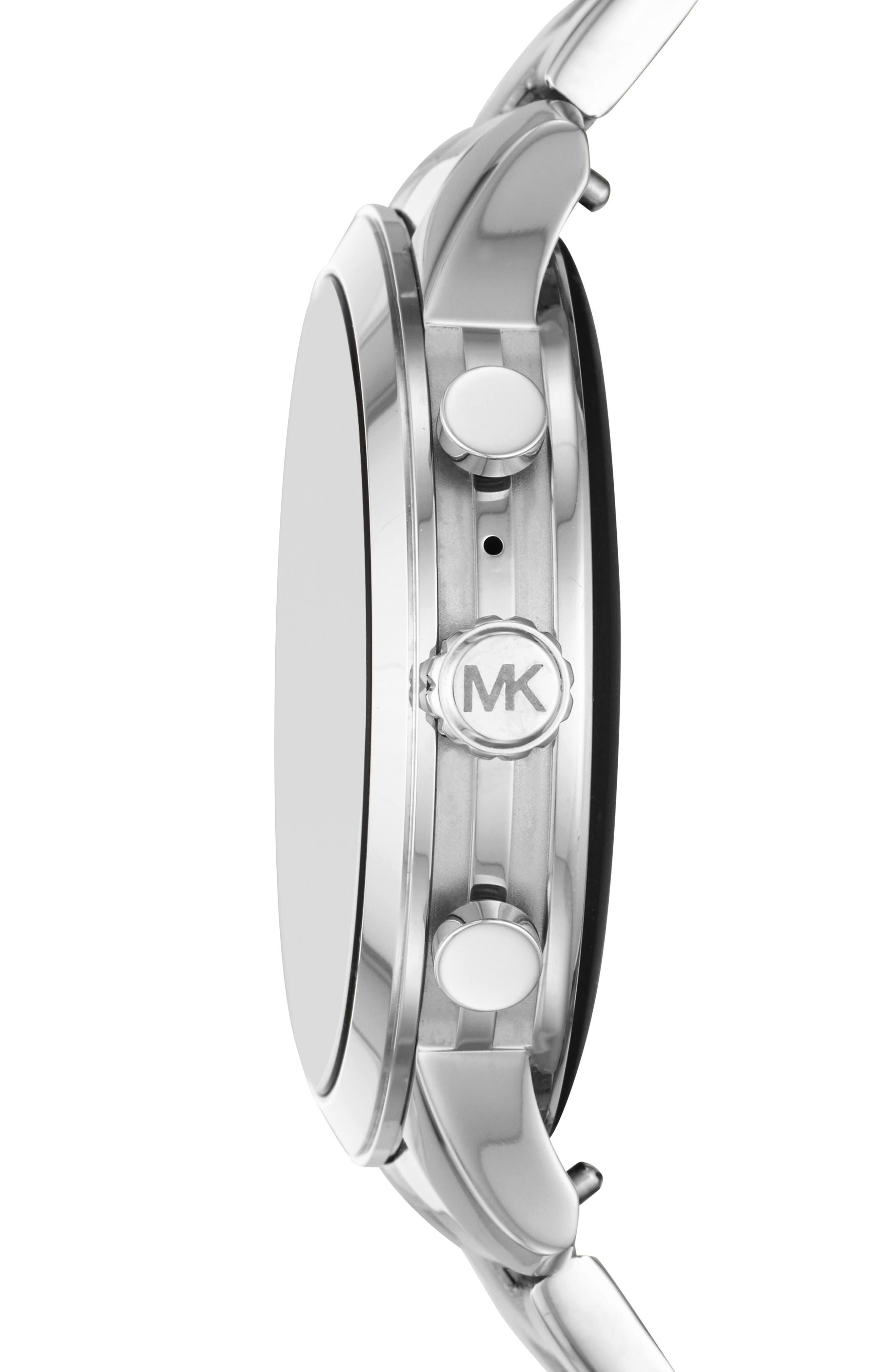 MICHAEL Michael Kors Access Runway Smart Bracelet Watch, 41mm,                             Alternate thumbnail 3, color,                             SILVER