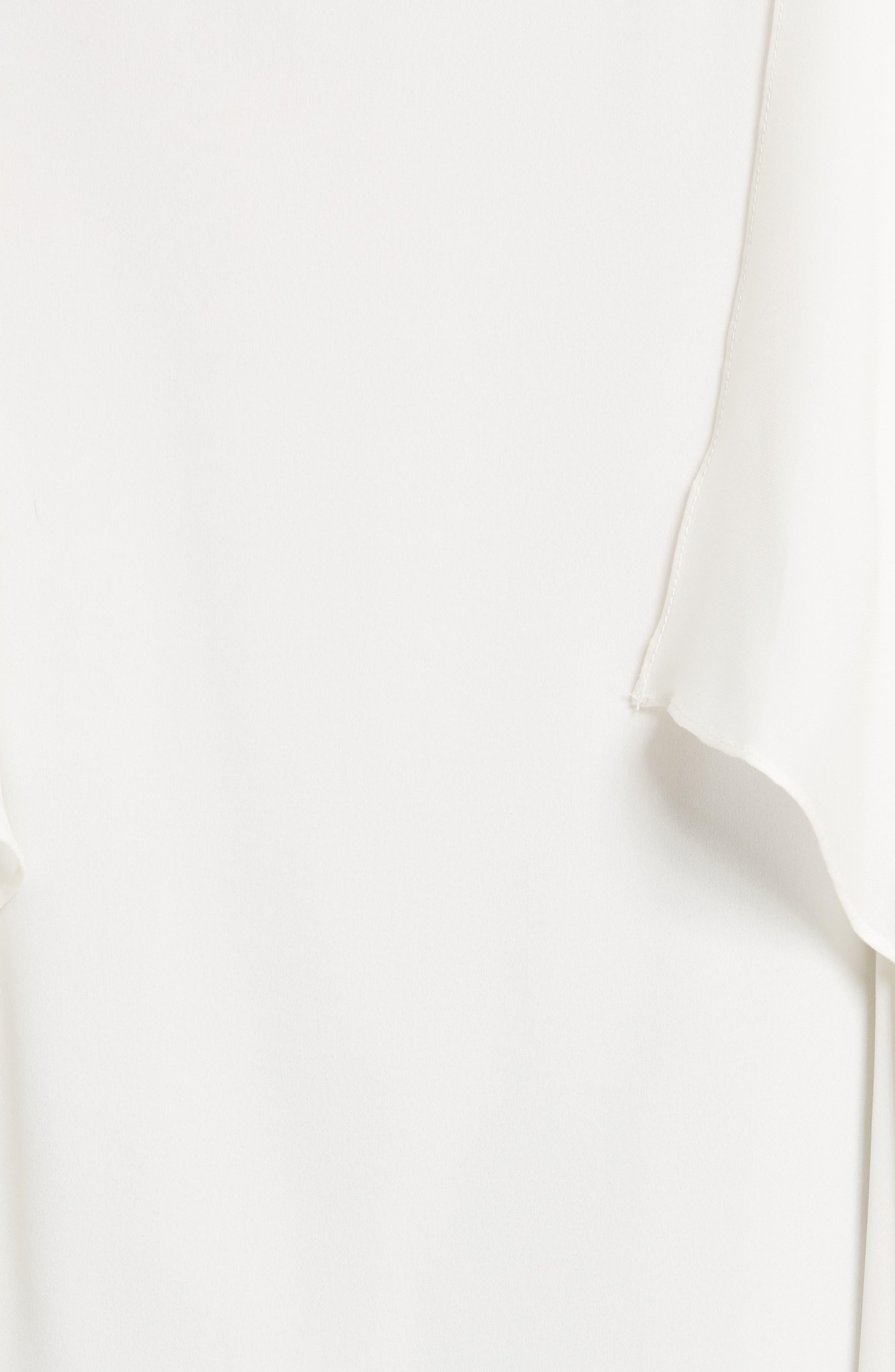 Maribel Asymmetrical Drape Silk Camisole,                             Alternate thumbnail 5, color,                             907