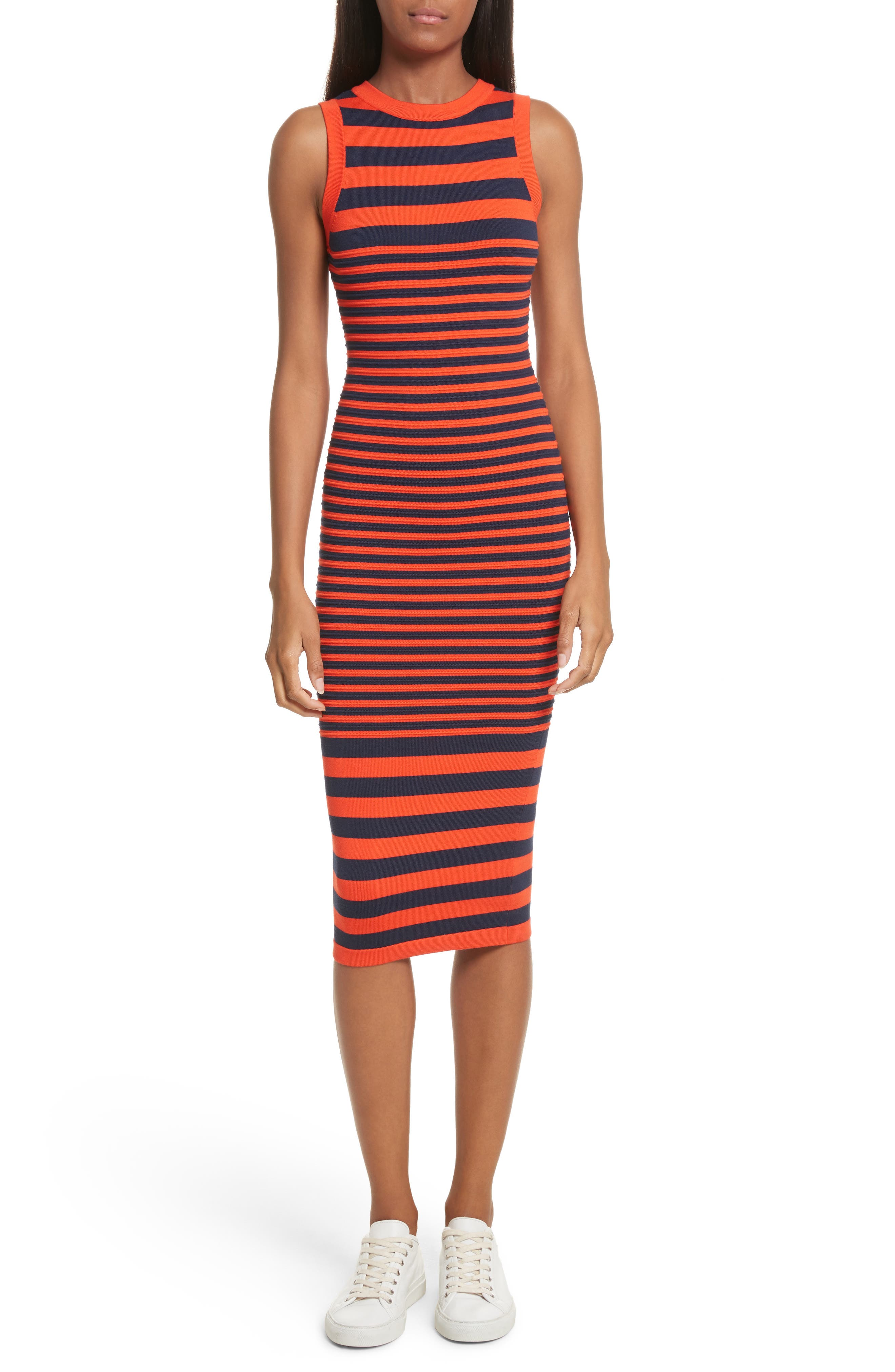 Stripe Ottoman Sweater Dress,                         Main,                         color, 477