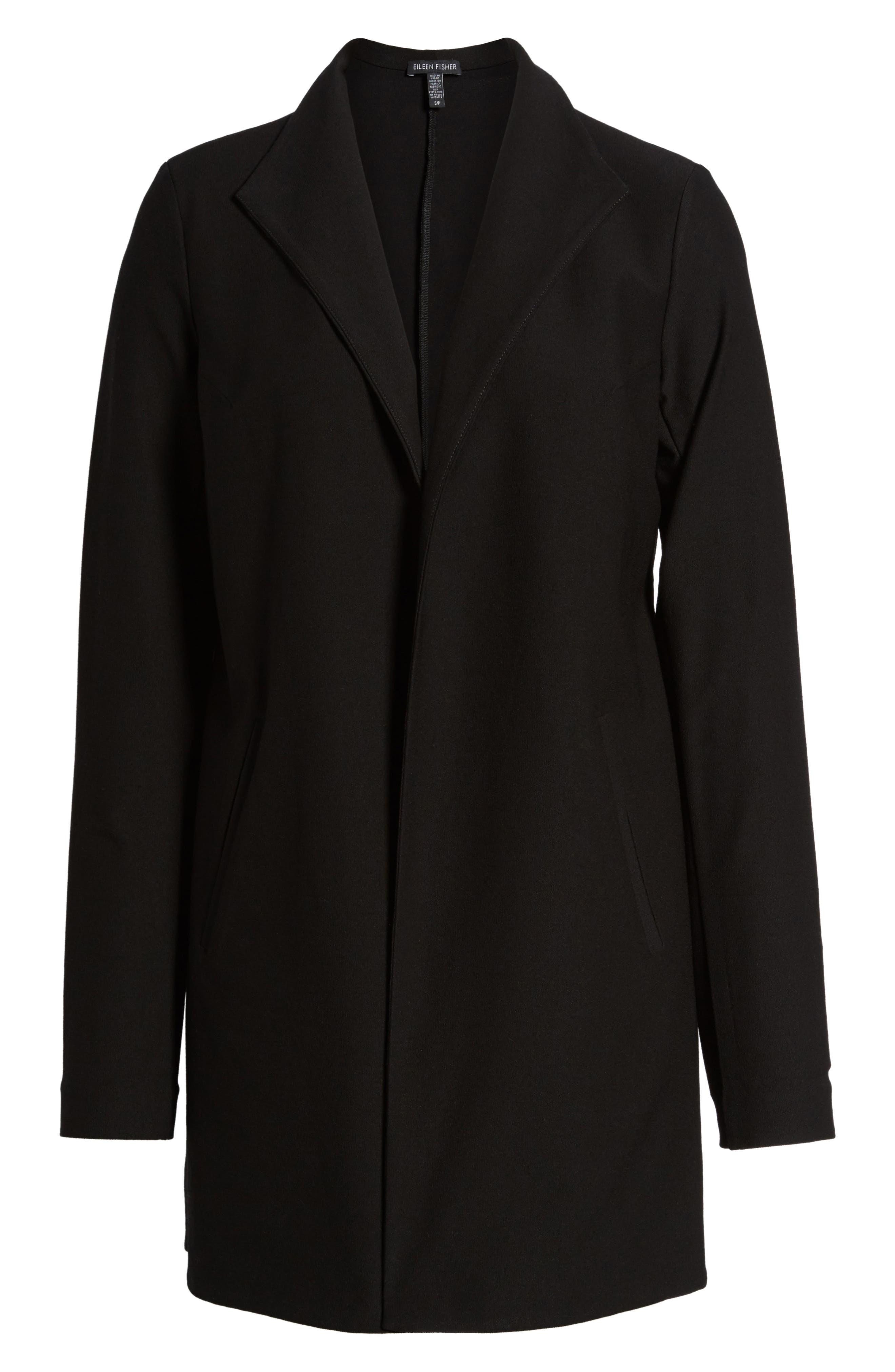 Long Knit Jacket,                             Alternate thumbnail 5, color,                             001