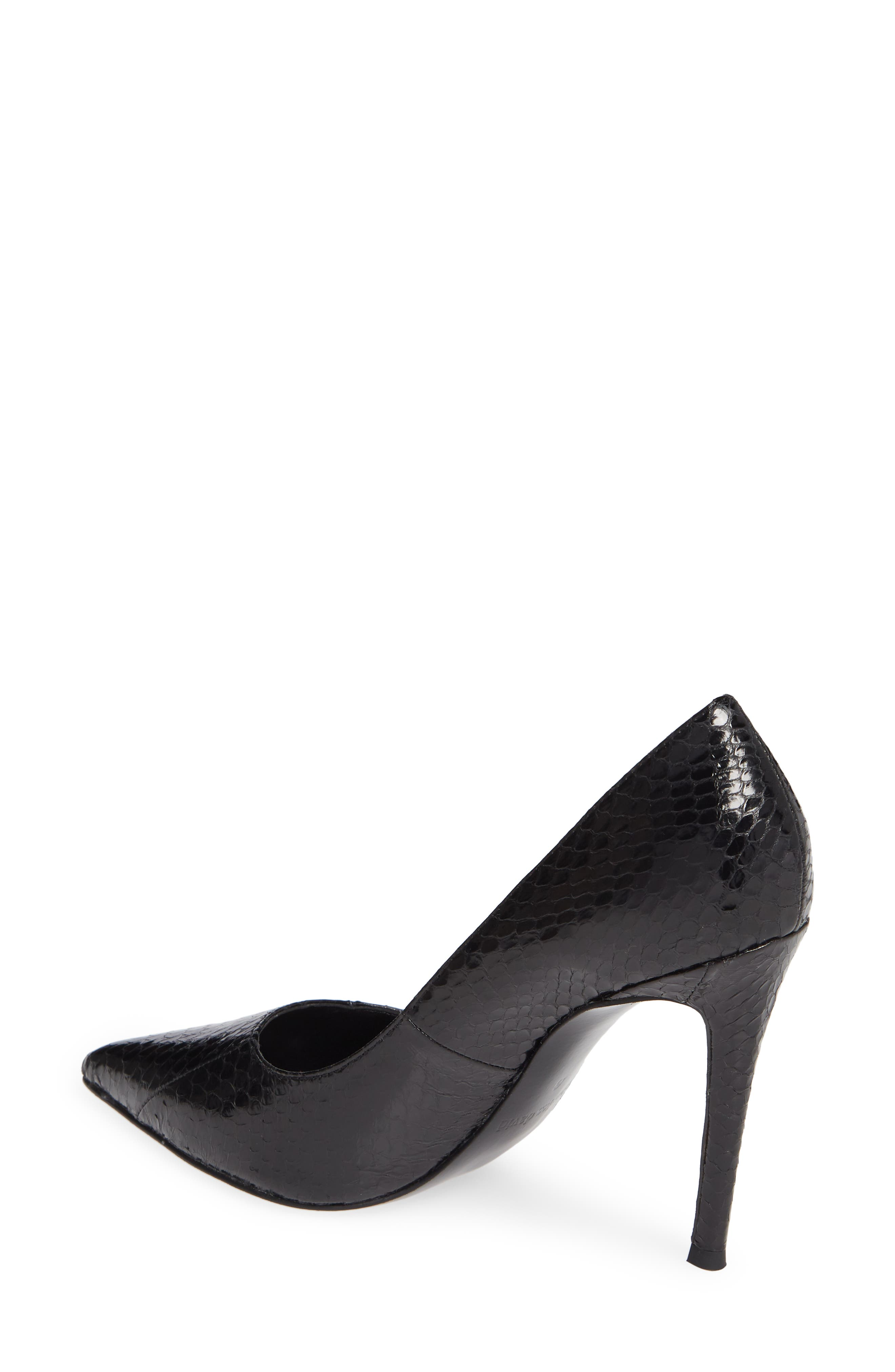 Calessi Pointy Toe Pump,                             Alternate thumbnail 2, color,                             BLACK SNAKE PRINT LEATHER