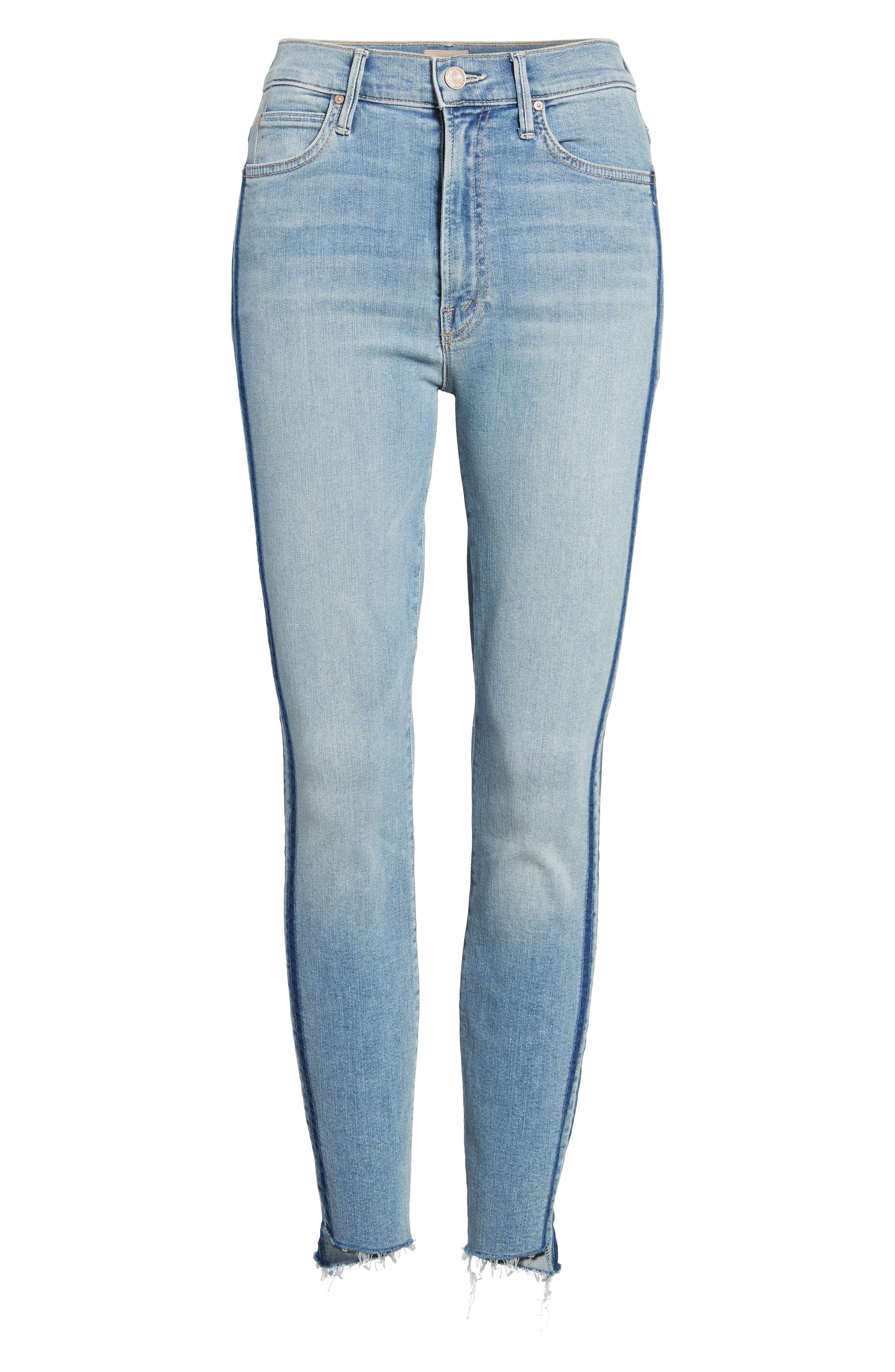 The Stunner Fray Step Hem Skinny Jeans,                             Alternate thumbnail 7, color,                             462