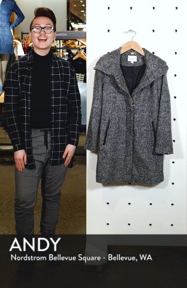 Fuzzy Houndstooth Coat, sales video thumbnail