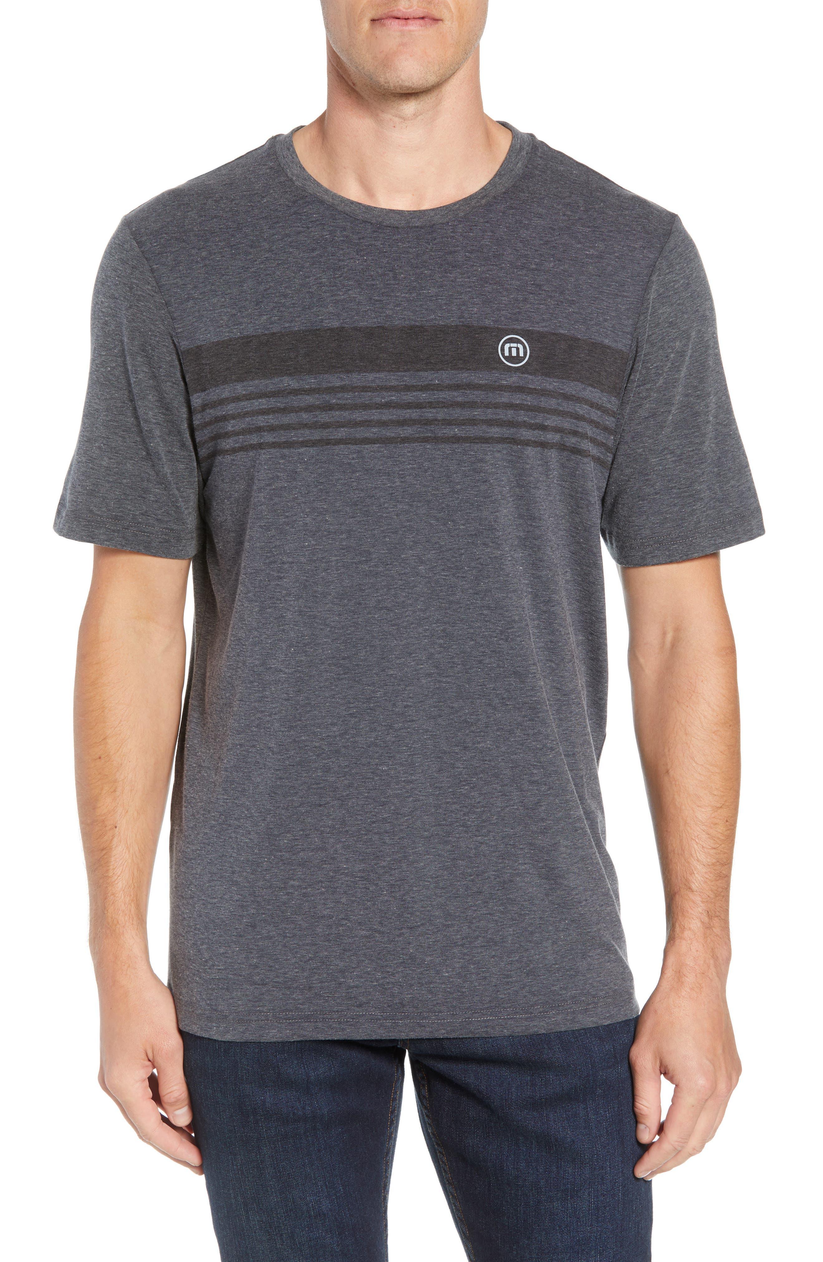 Recline Performance T-Shirt,                             Main thumbnail 1, color,                             HEATHER MAGNET