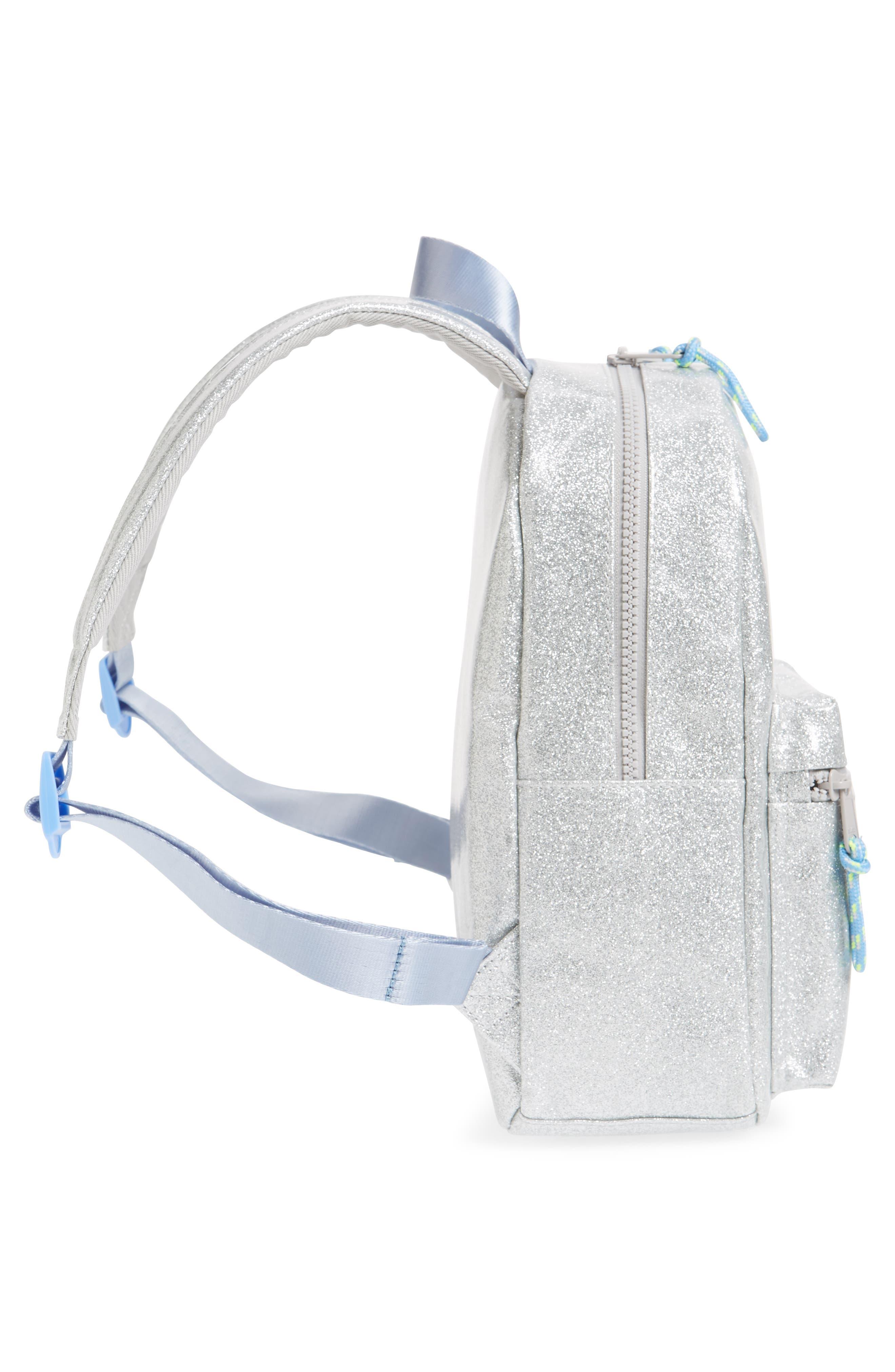 Glitter Mini Backpack,                             Alternate thumbnail 4, color,                             MORNING FOG