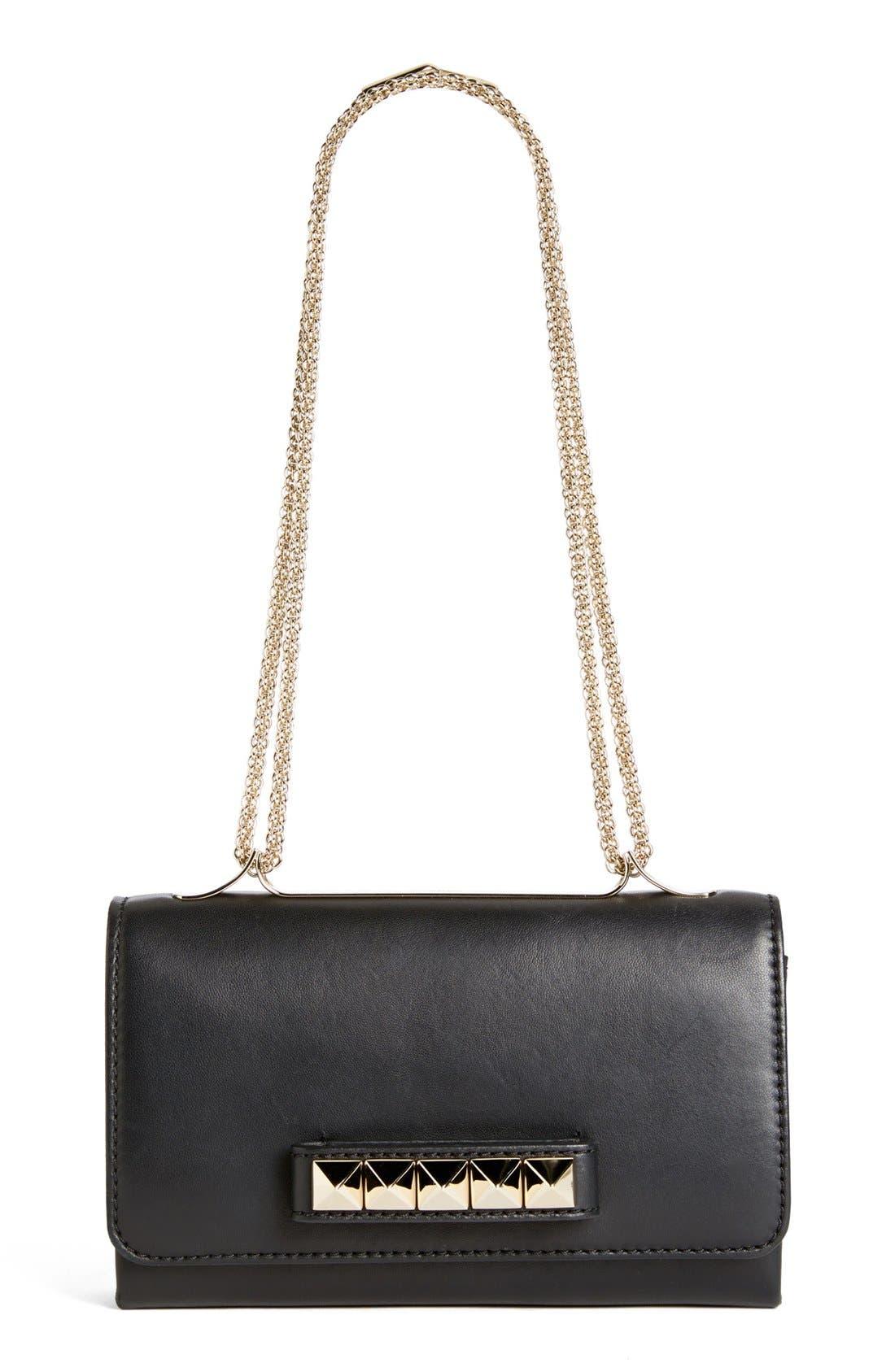 'Va Va Voom' Nappa Leather Shoulder Bag,                             Main thumbnail 1, color,                             001