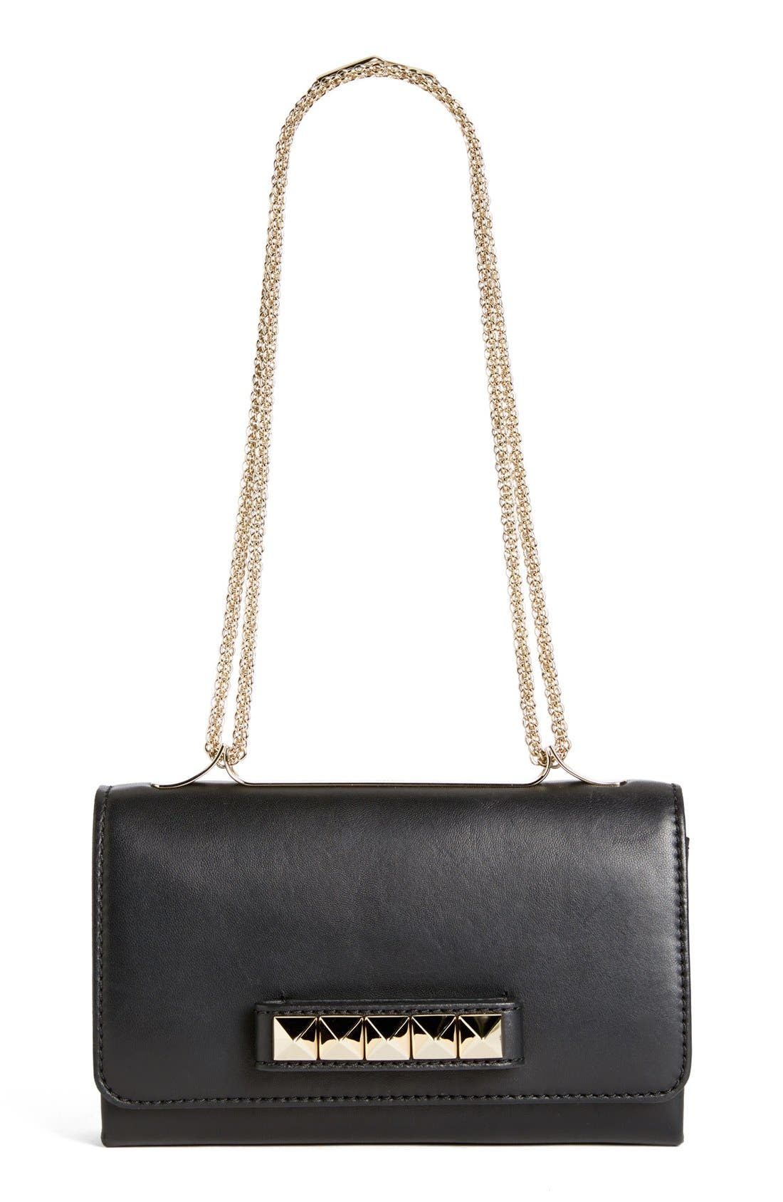 'Va Va Voom' Nappa Leather Shoulder Bag, Main, color, 001