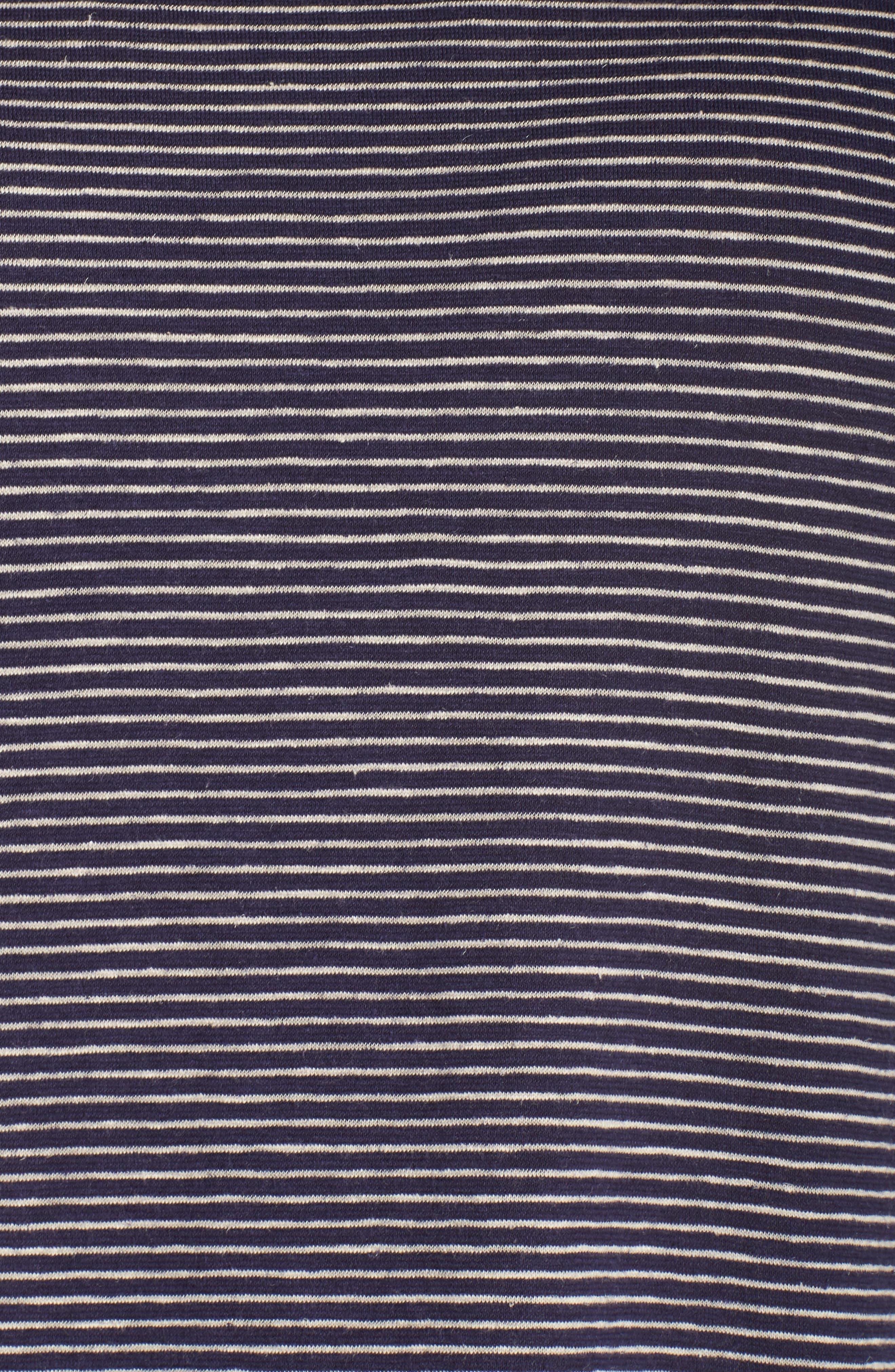 Stripe Hem & Cotton T-Shirt Dress,                             Alternate thumbnail 5, color,                             465