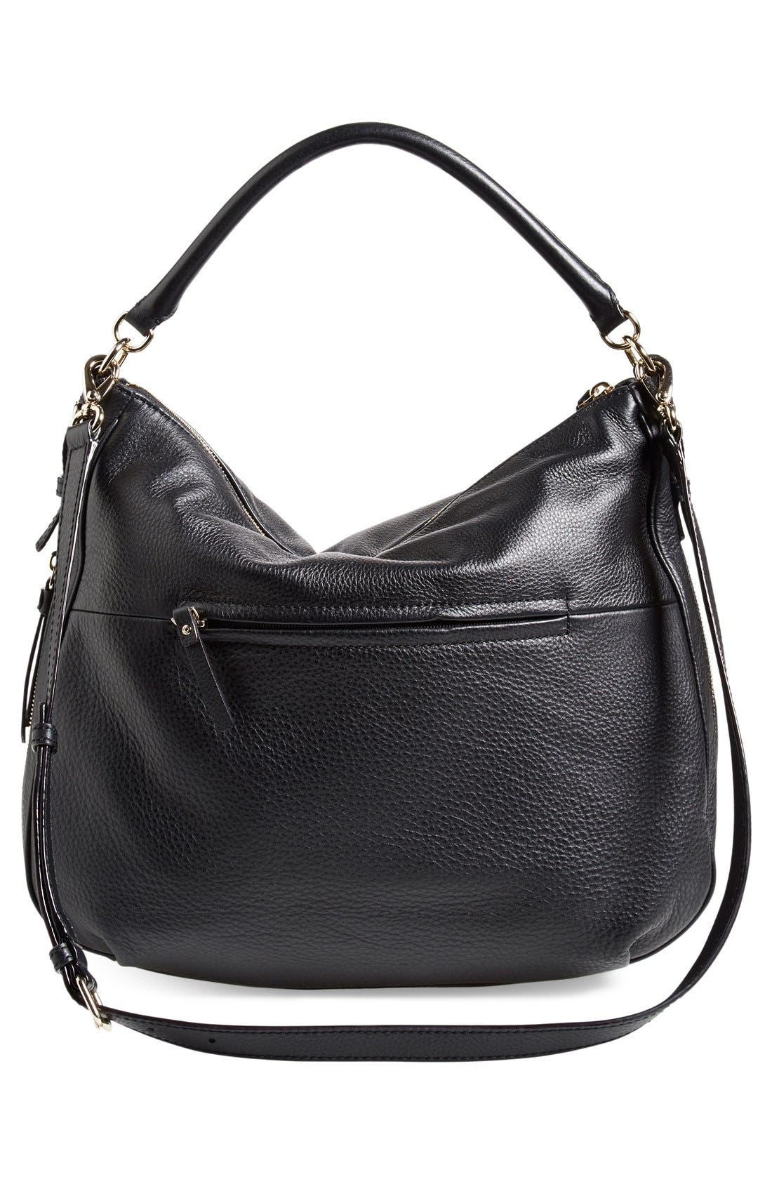 'cobble hill - ella' leather hobo,                             Alternate thumbnail 6, color,                             001