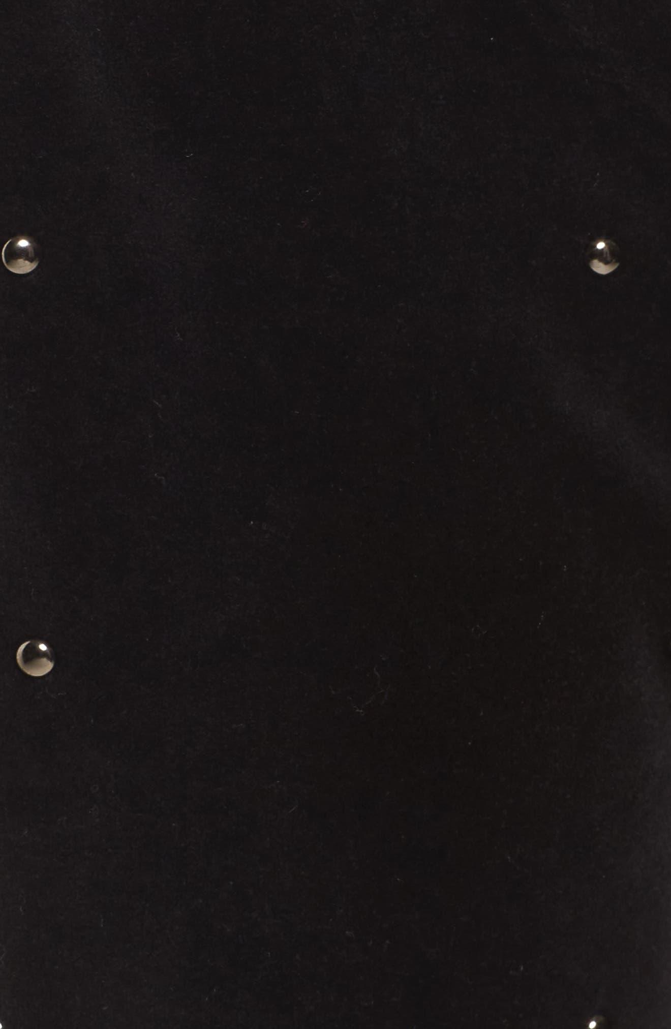 Velour Studded Track Pants,                             Alternate thumbnail 5, color,                             009