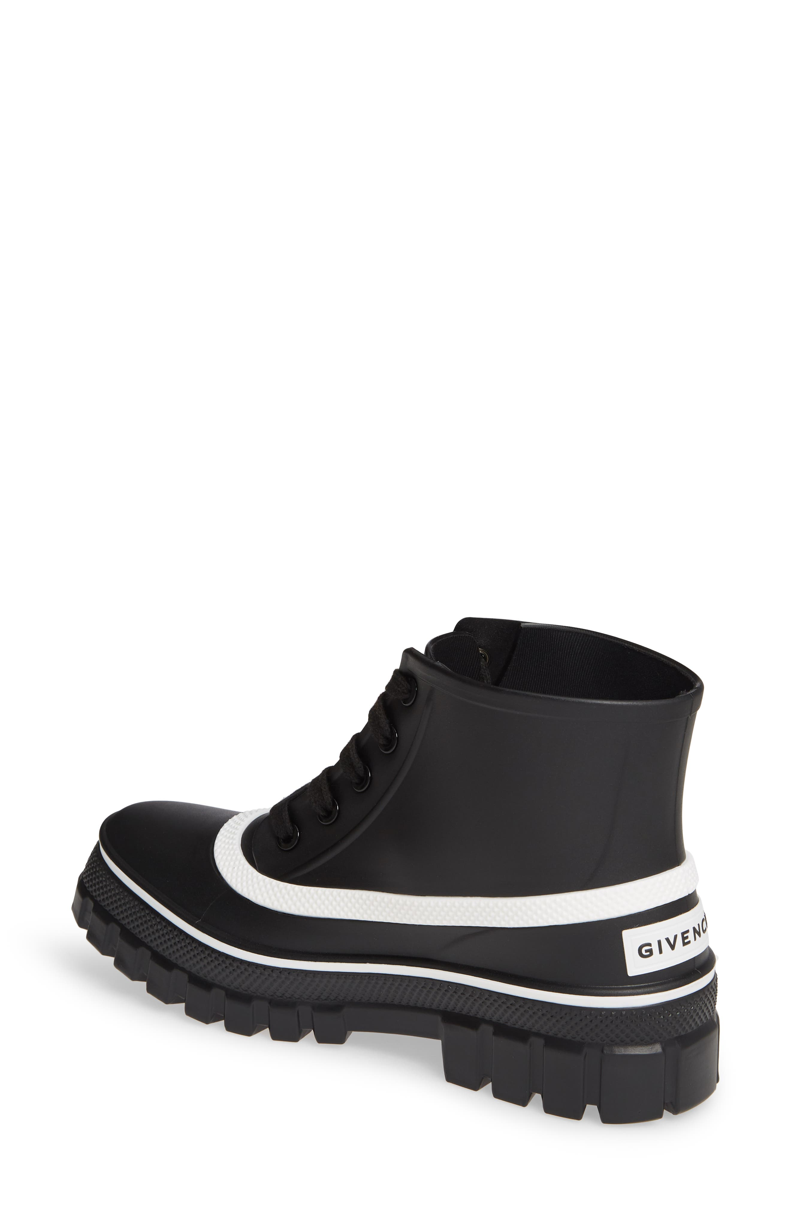 GIVENCHY,                             Glaston Waterproof Ankle Rain Boot,                             Alternate thumbnail 2, color,                             BLACK