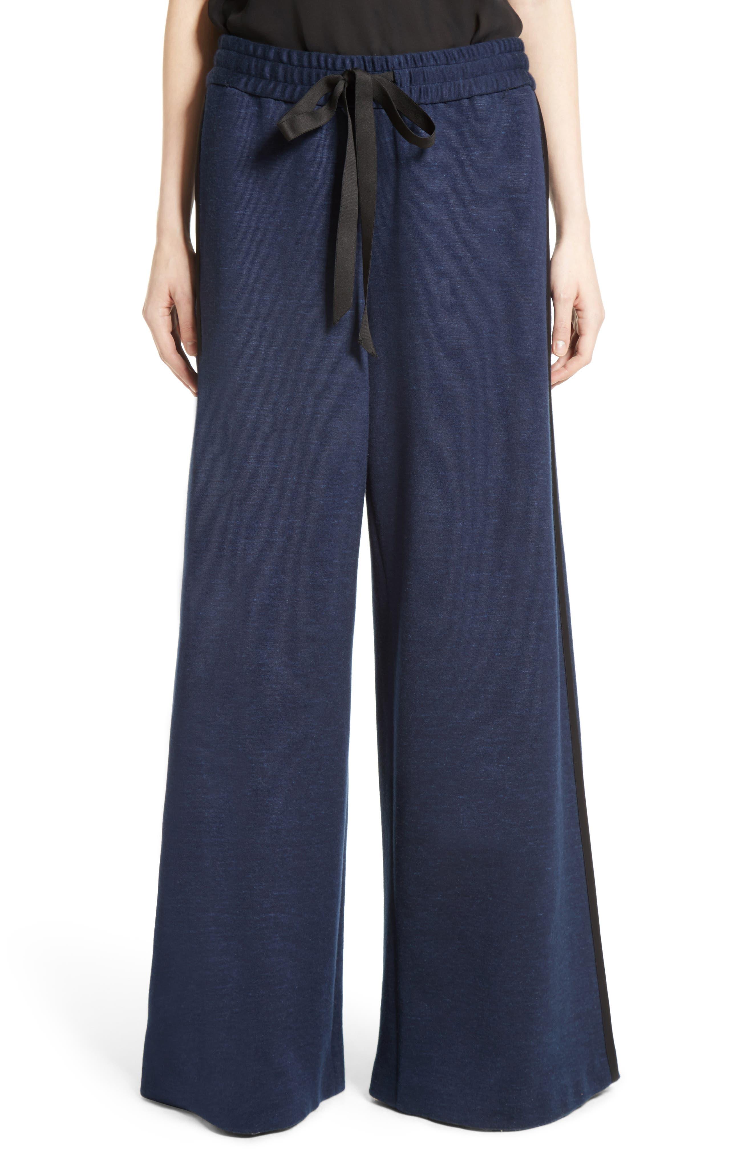 Jersey Wide Leg Drawstring Pants,                             Main thumbnail 1, color,                             413