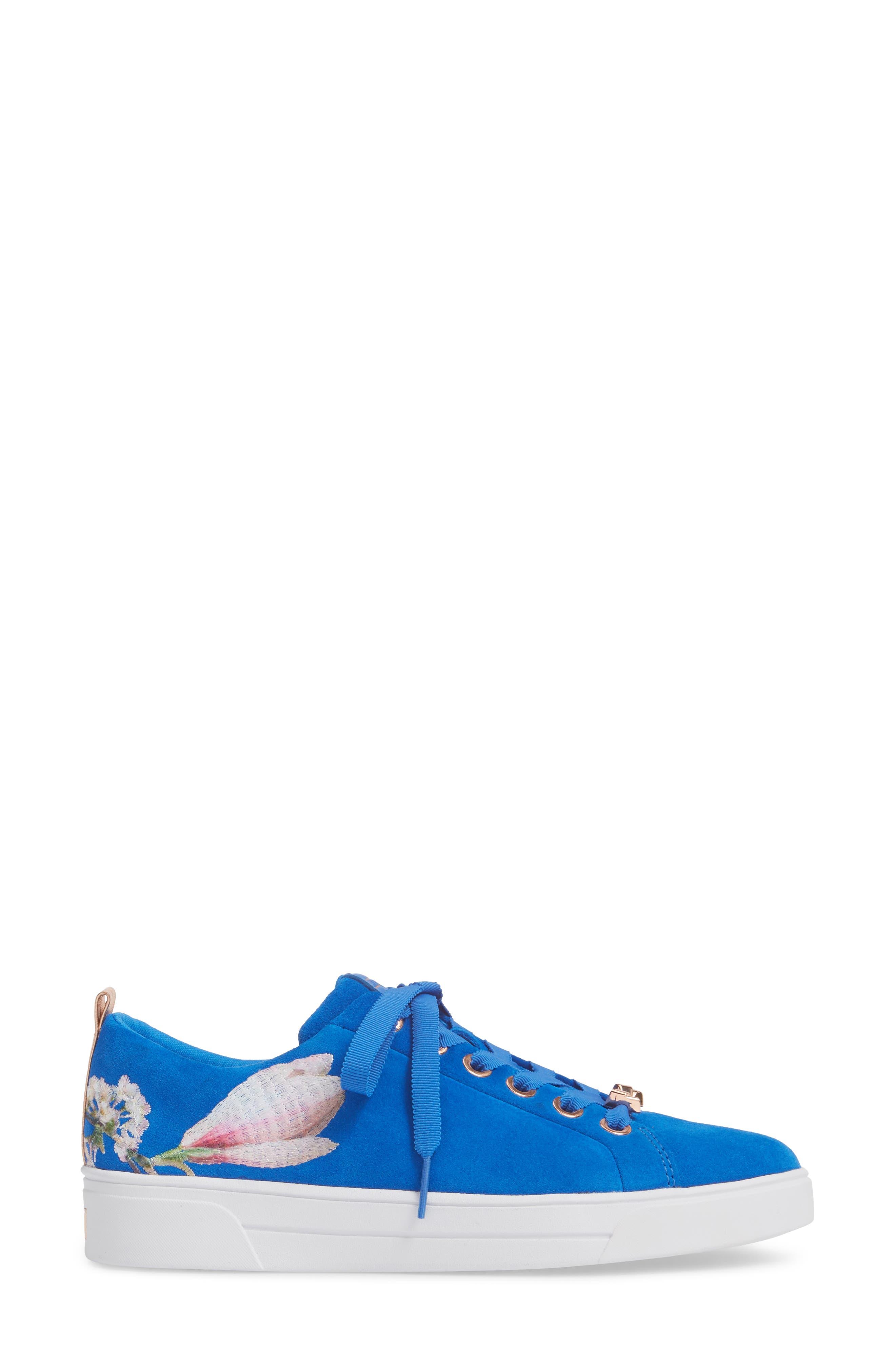 Eryin Sneaker,                             Alternate thumbnail 3, color,                             BLUE HARMONY PRINT SUEDE