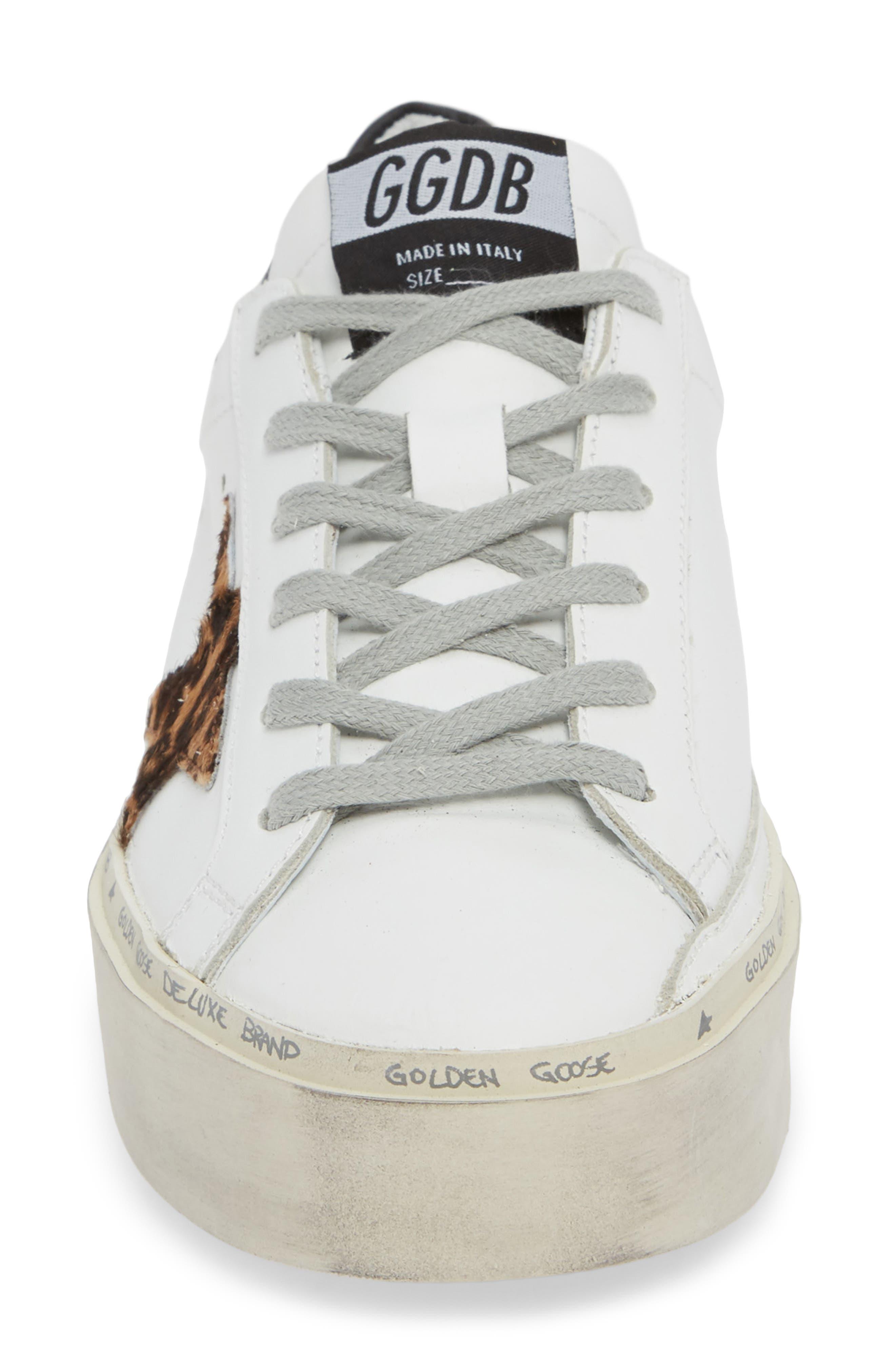 Hi Star Genuine Calf Hair Platform Sneaker,                             Alternate thumbnail 4, color,                             100