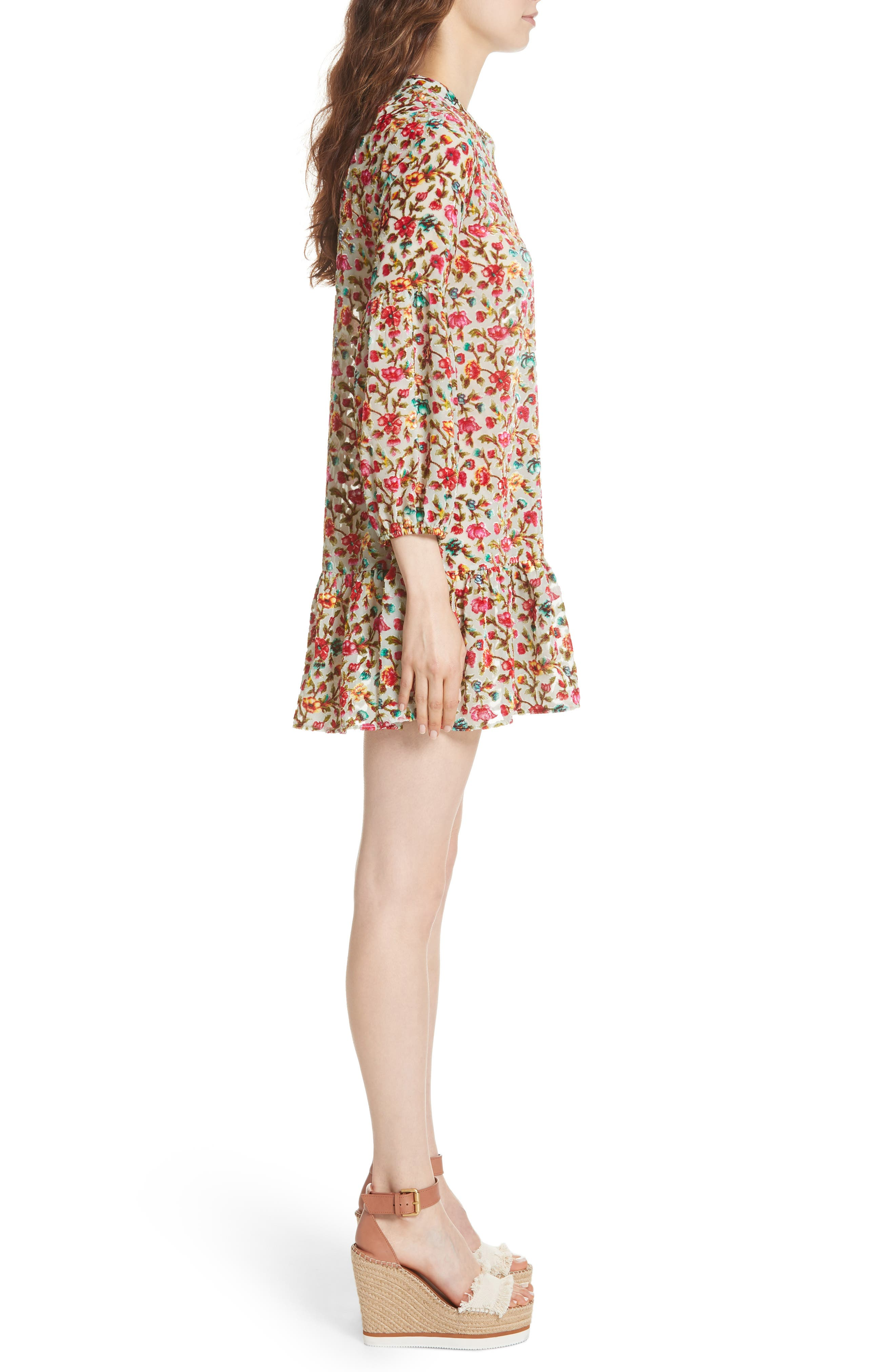 Simpson Printed Dress,                             Alternate thumbnail 3, color,                             693