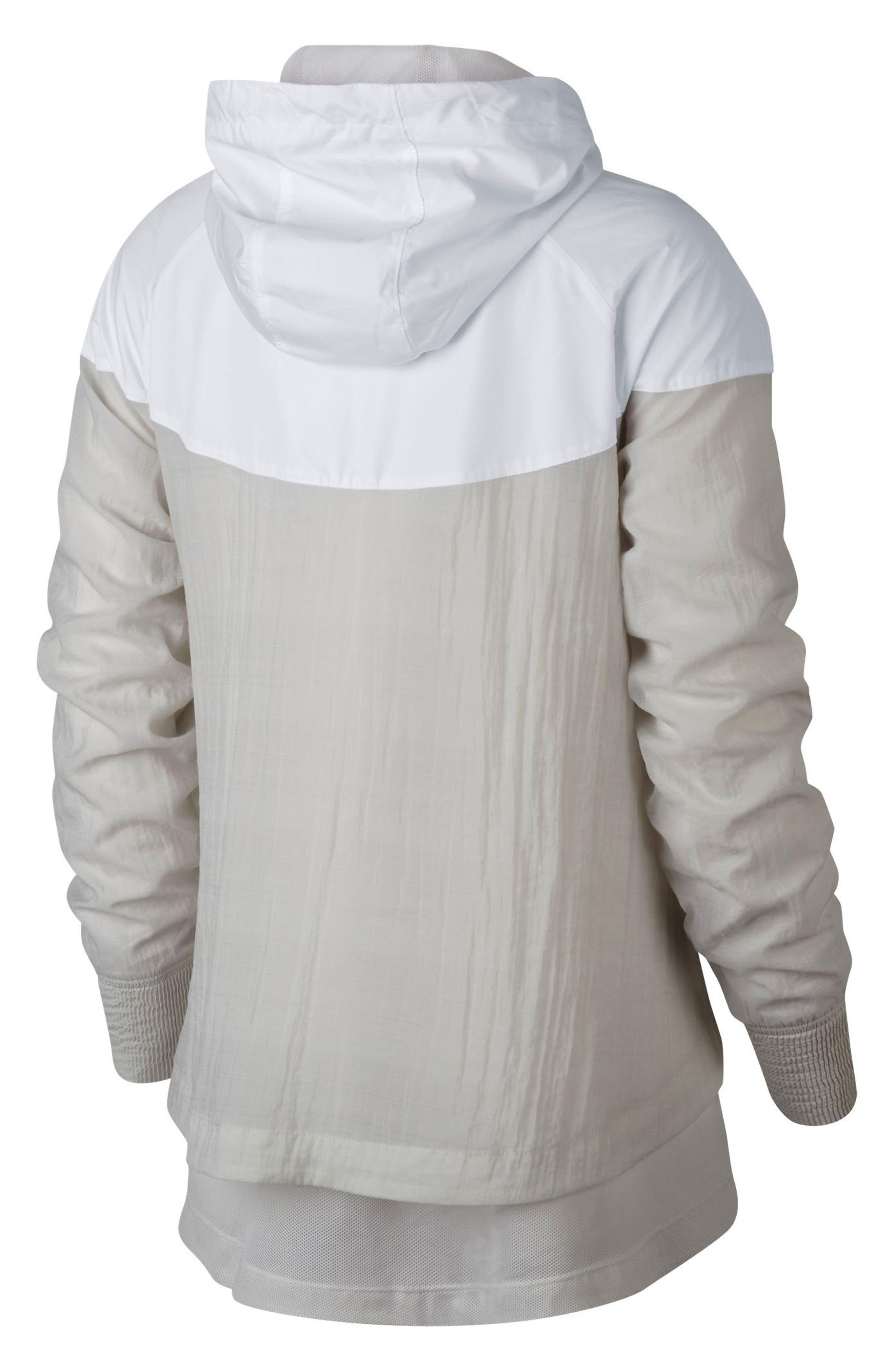 Sportswear Women's Windrunner Water Repellent Jacket,                             Alternate thumbnail 2, color,                             WHITE/ LIGHT BONE/ LIGHT BONE