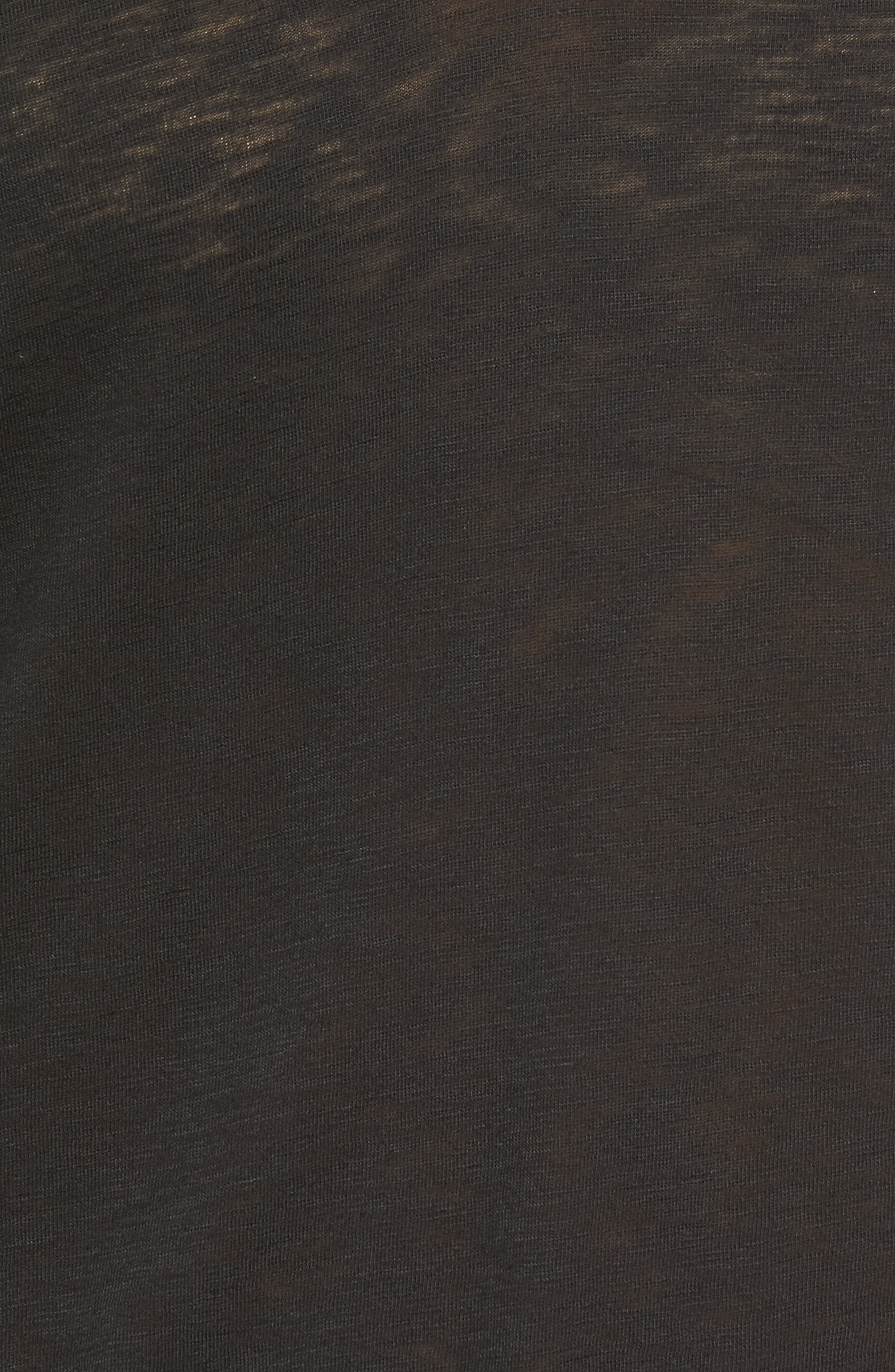 Ruffle Sleeve Tee,                             Alternate thumbnail 5, color,                             001