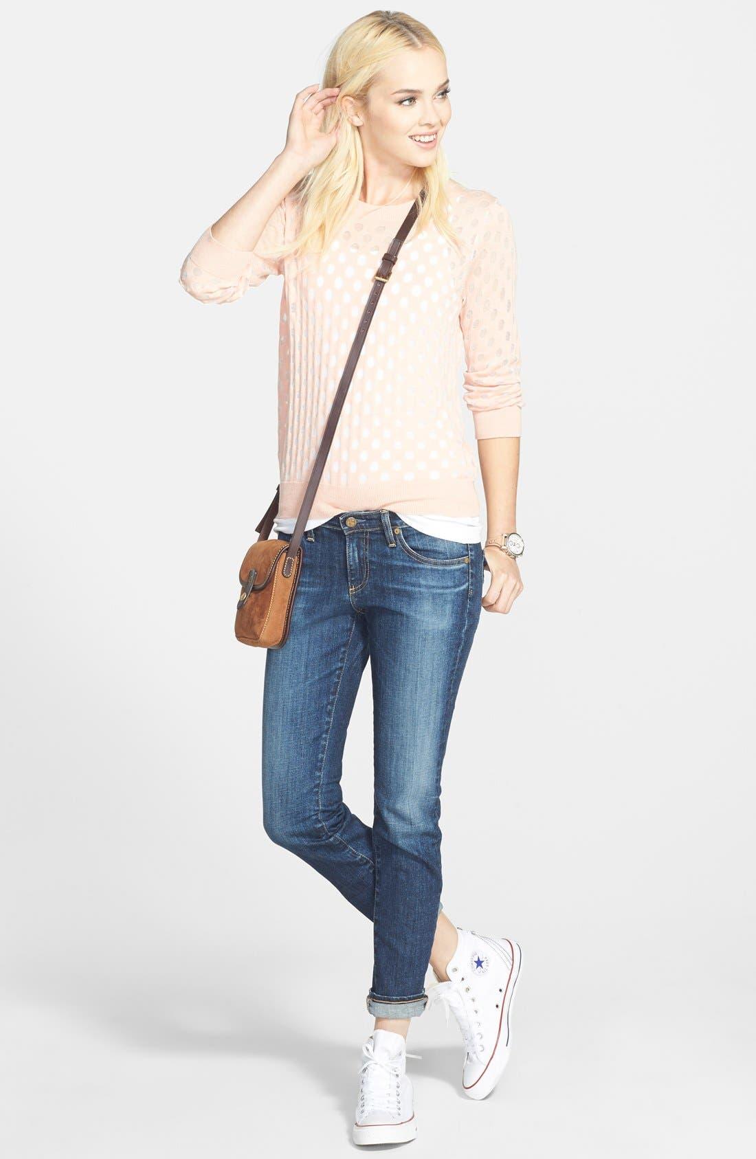 Burnout Damask Sweater,                         Main,                         color, 440